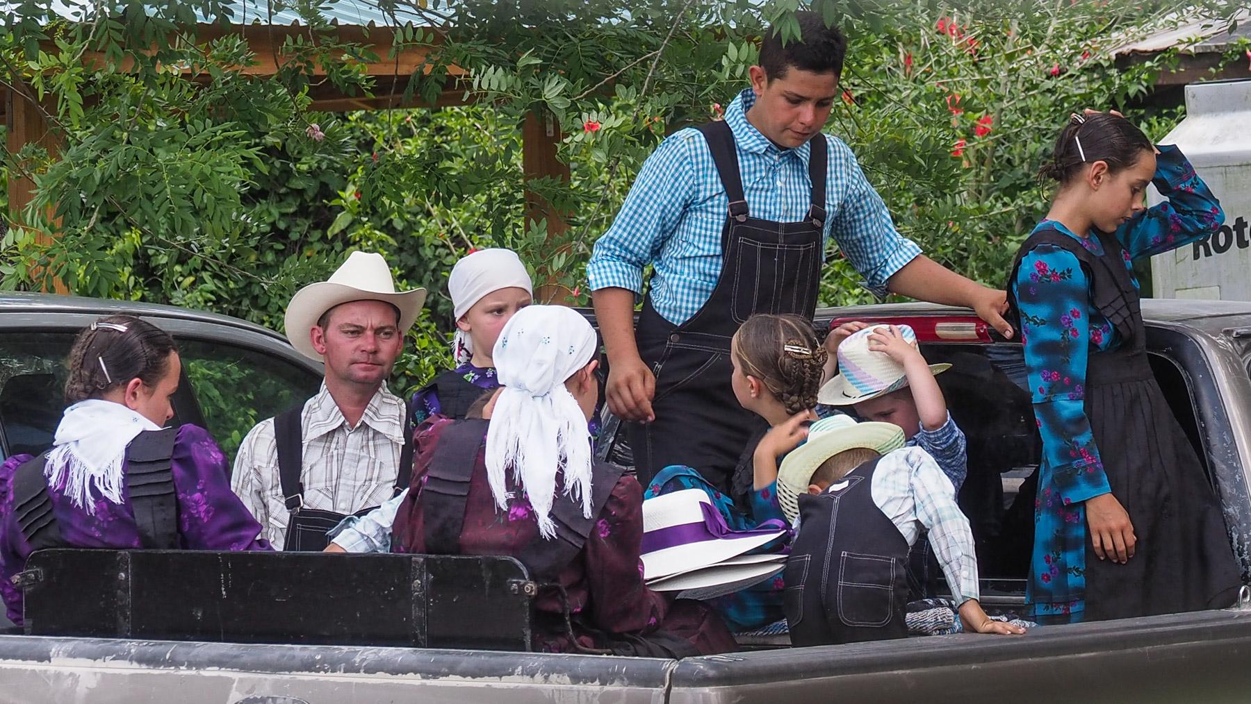 Es gibt große Mennonitengruppen in Belize