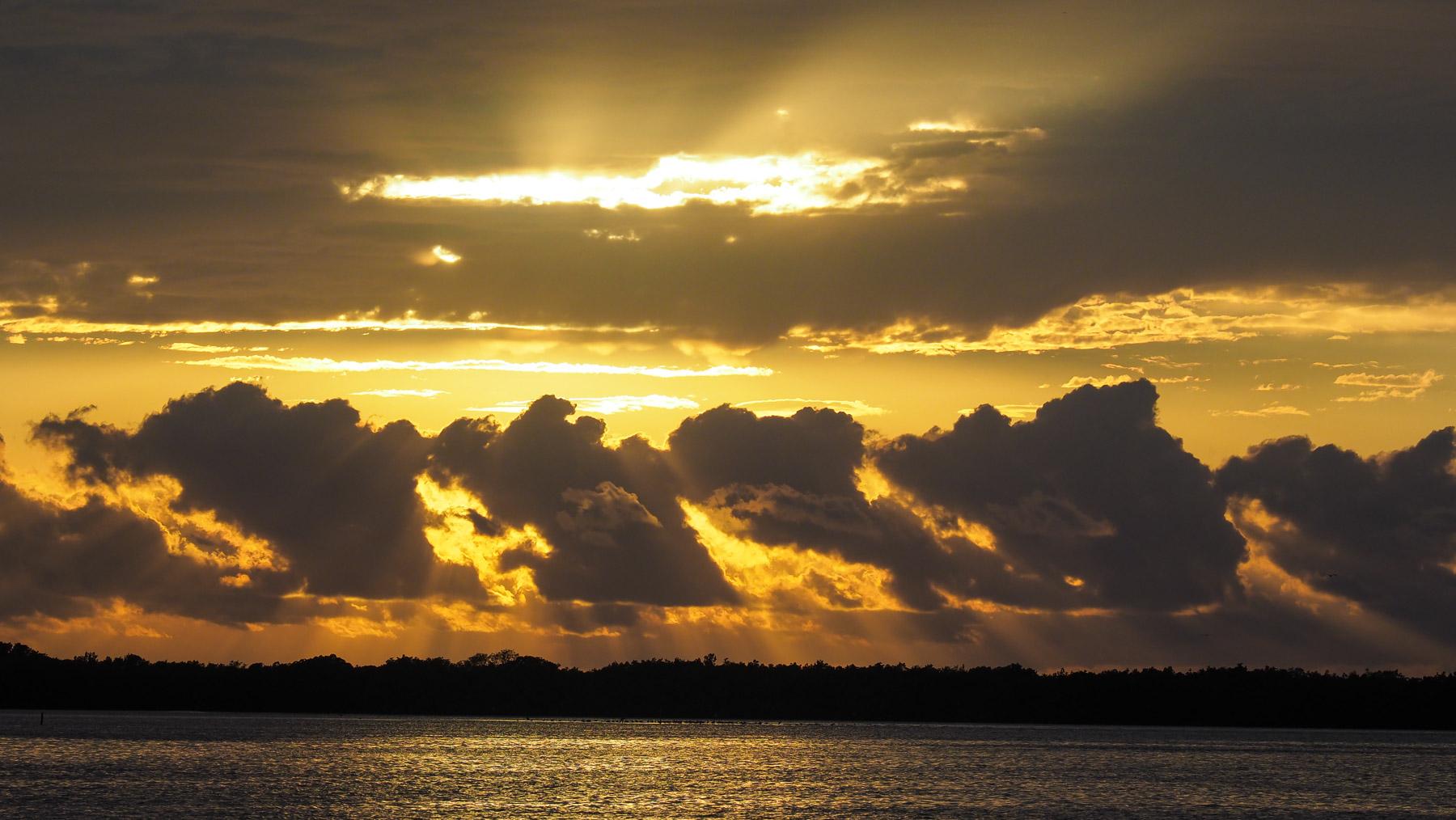 Sonnenuntengang in Rio Lagartos