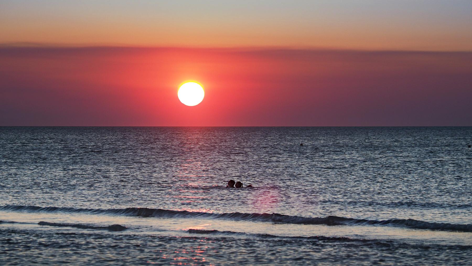 Traumhafte Sonnenuntergänge in Holbox