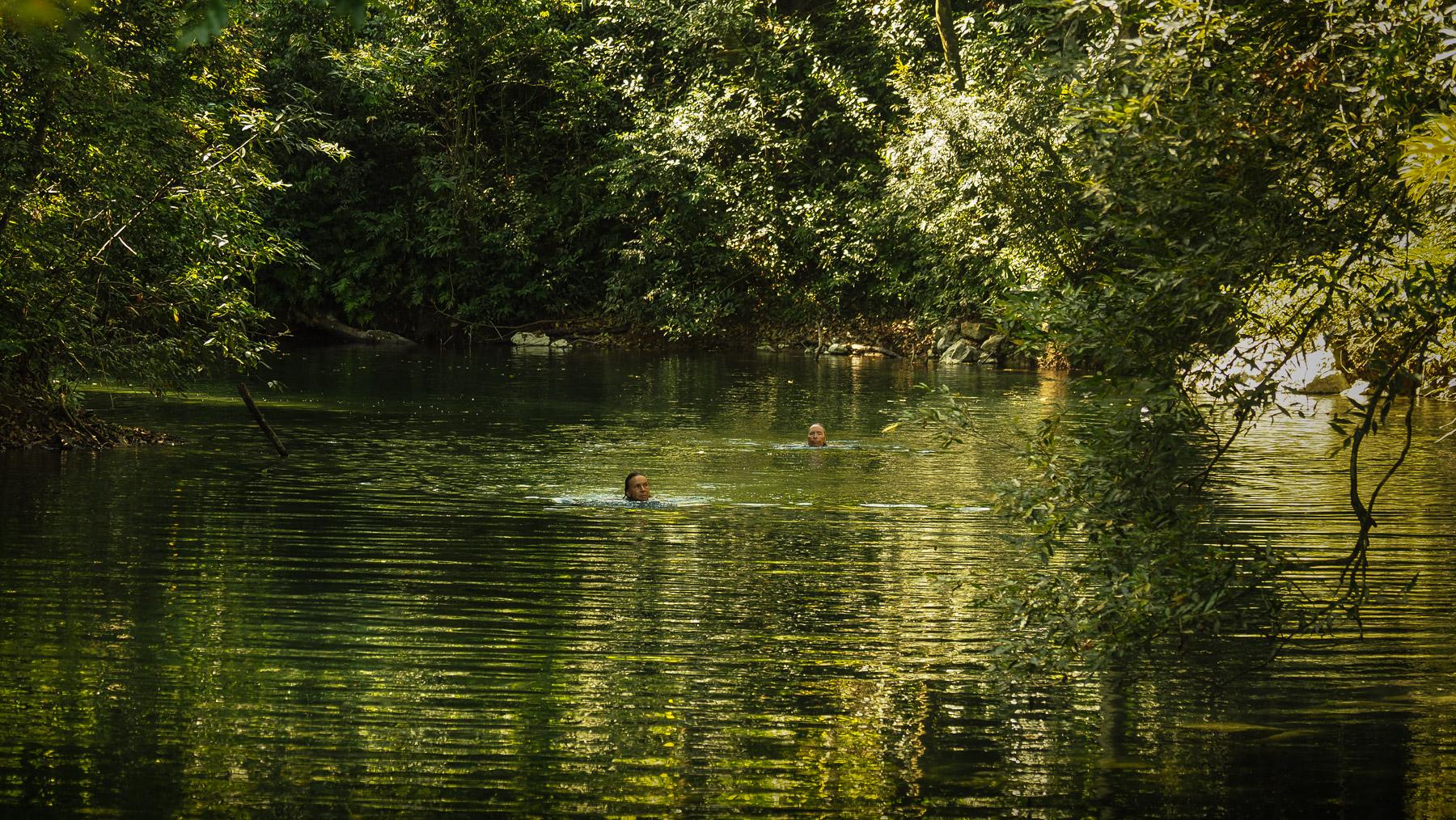 Quasi privater Fluss zum Schwimmen