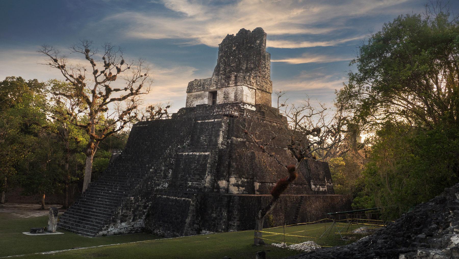 Abendstimmung in Tikal