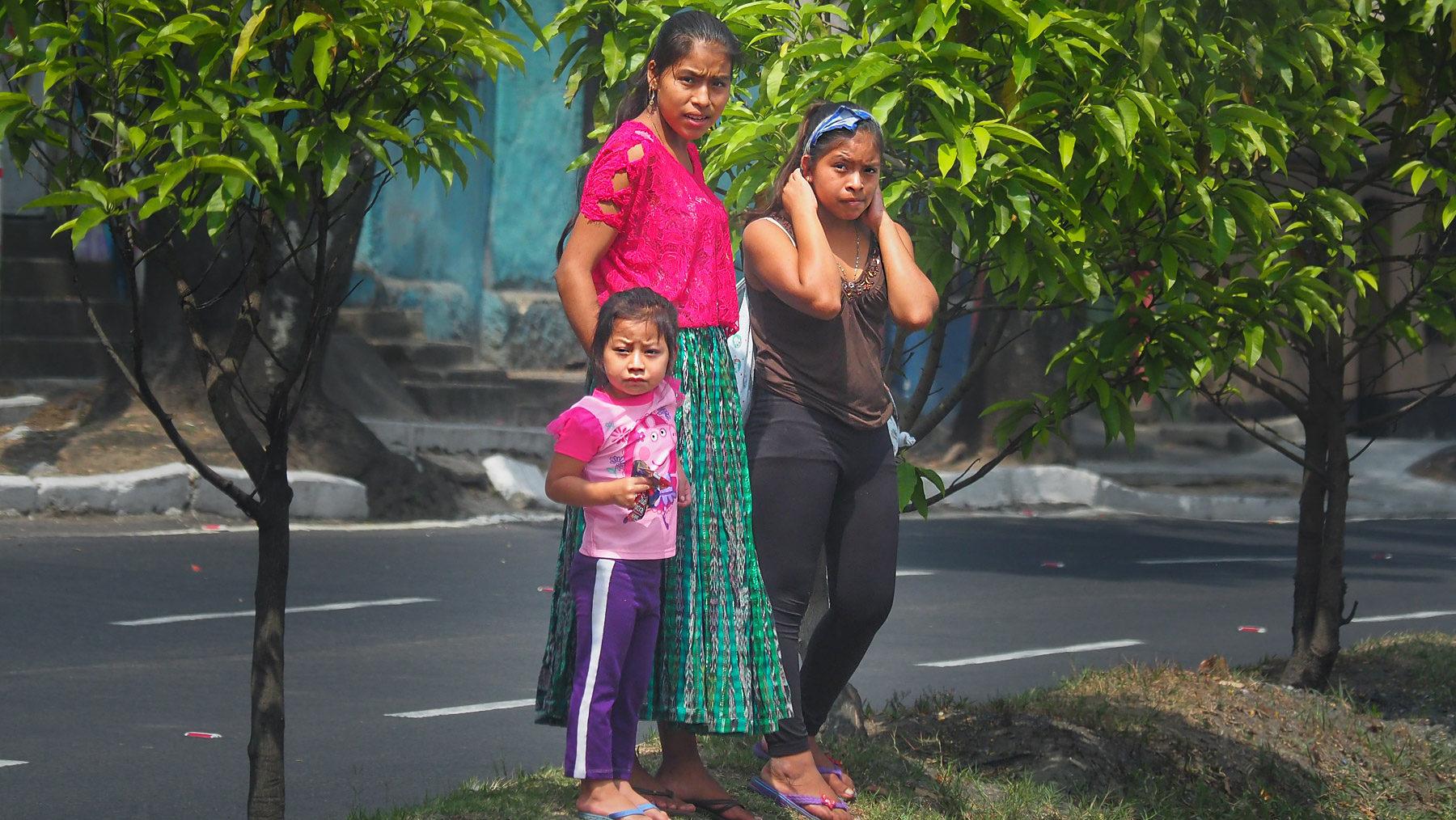 Hochlandindios in Guatemala City