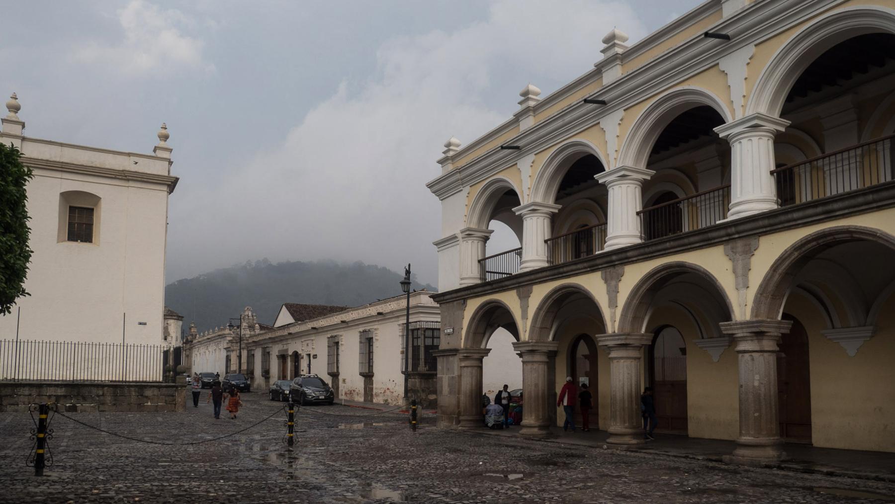 Weltkulturerbe Antigua, hier der Verwaltungspalast