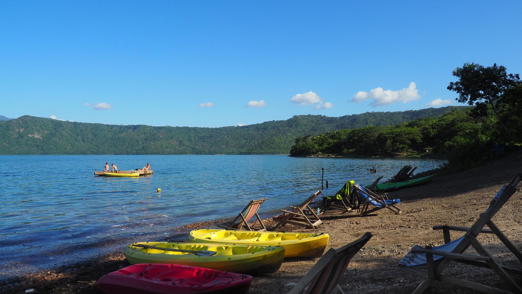 Das Hostel Paradiso liegt paradiesisch an der Laguna Apoyo