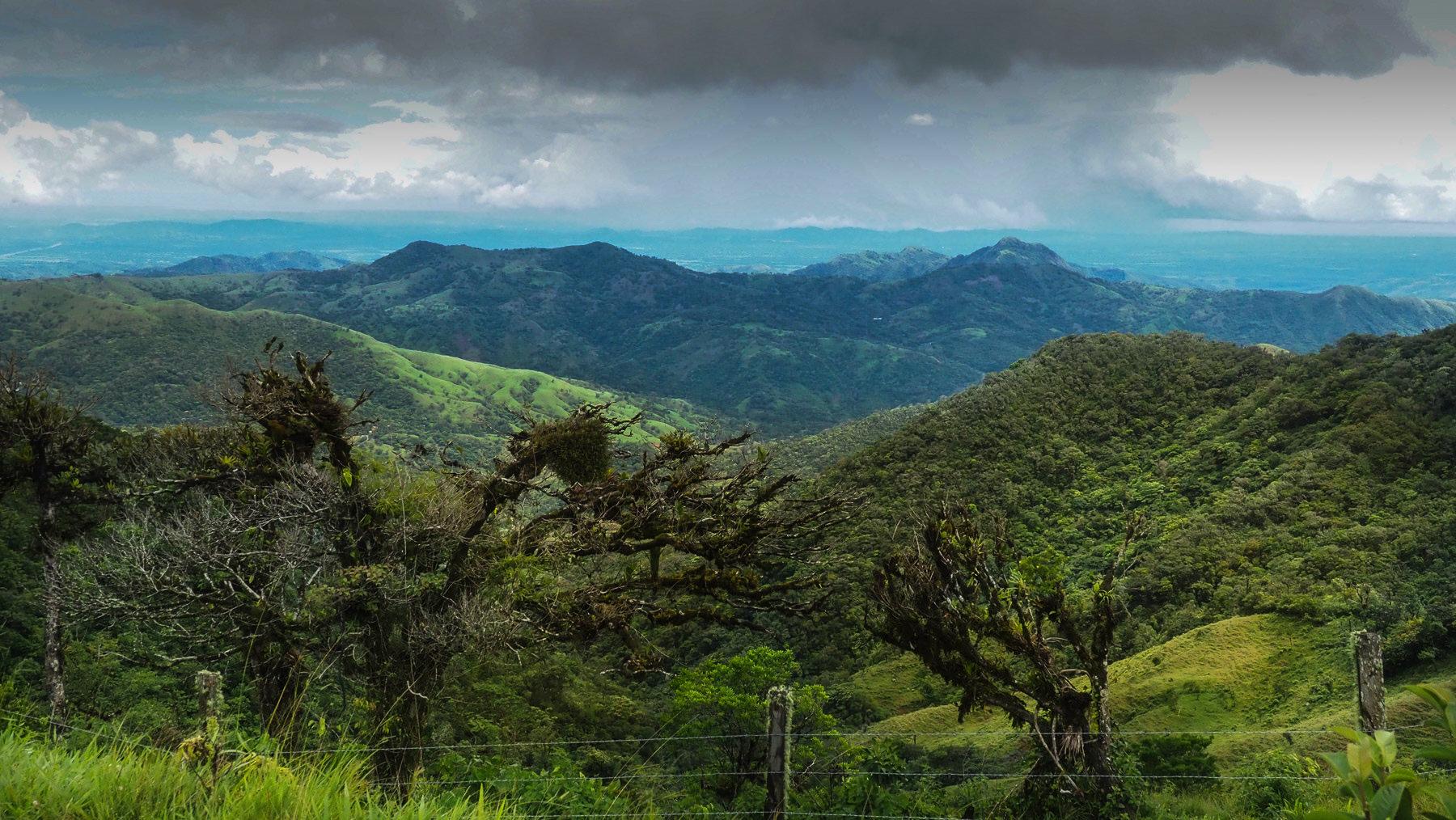 Schöne Fahrt durch die Chiriqui-Berge