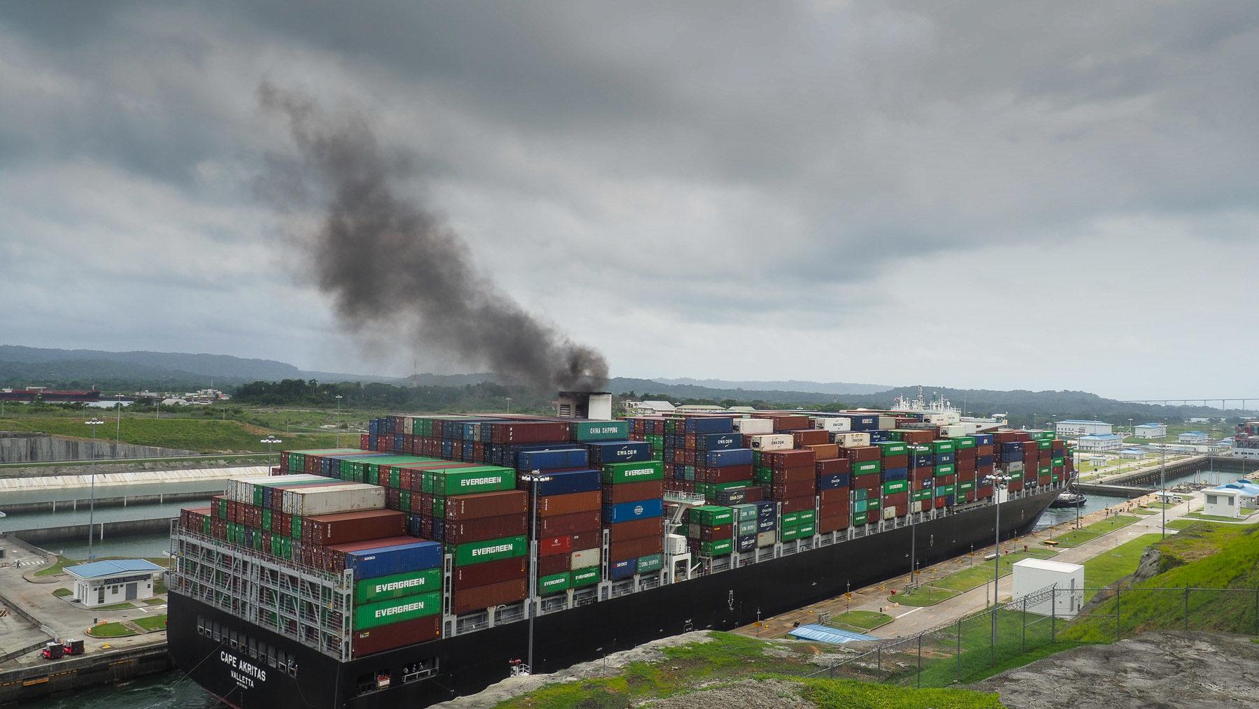 Eine der Schleusen des Panamakanals