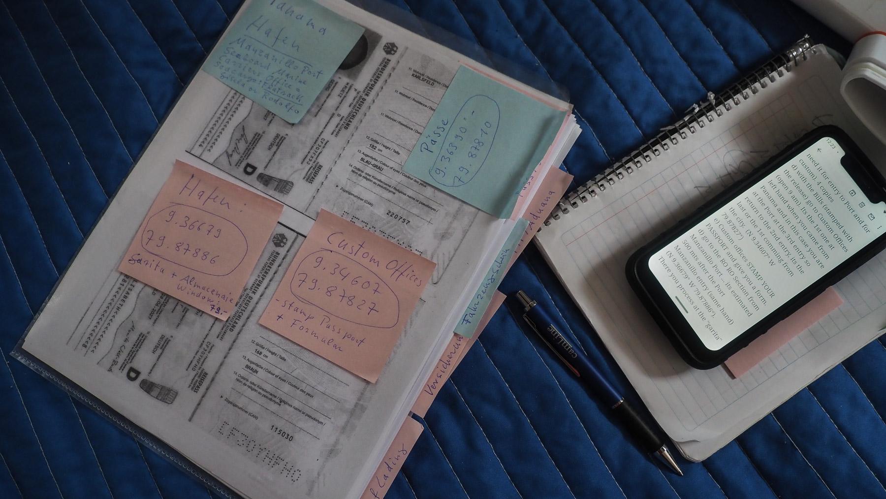 Vorbereitung ist alles. Viele Dokumente und noch mehr Kopien.