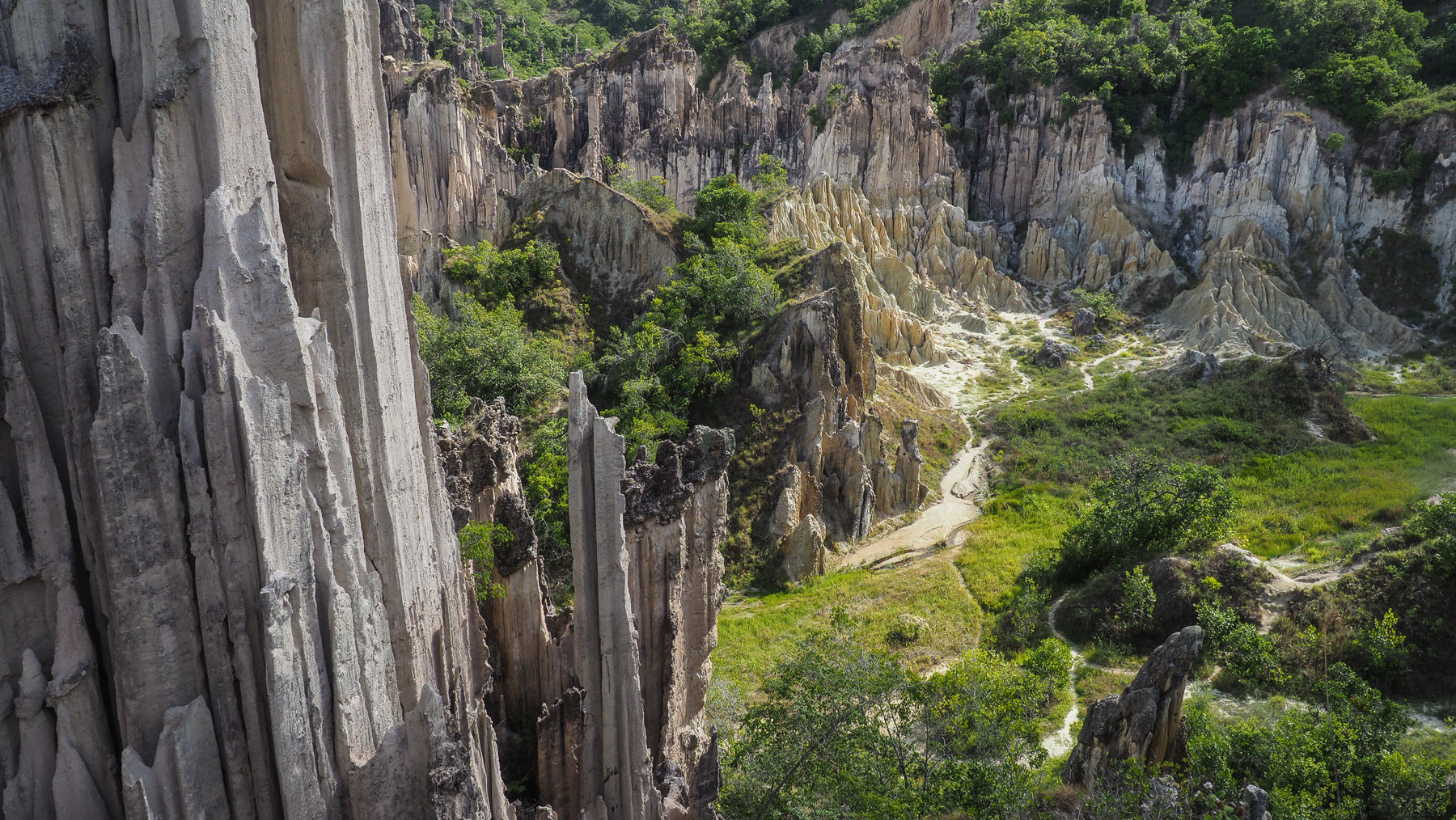 Erster Stop  in der Cordillera Occidental, ein kleines nettes Felsengebiet mit Sandsteintürmen