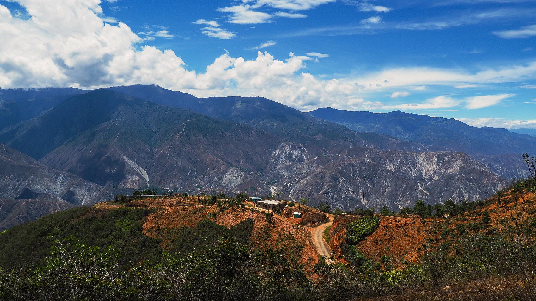 Chicamocha Canyon, schöner Übernachtungsplatz an der Kante
