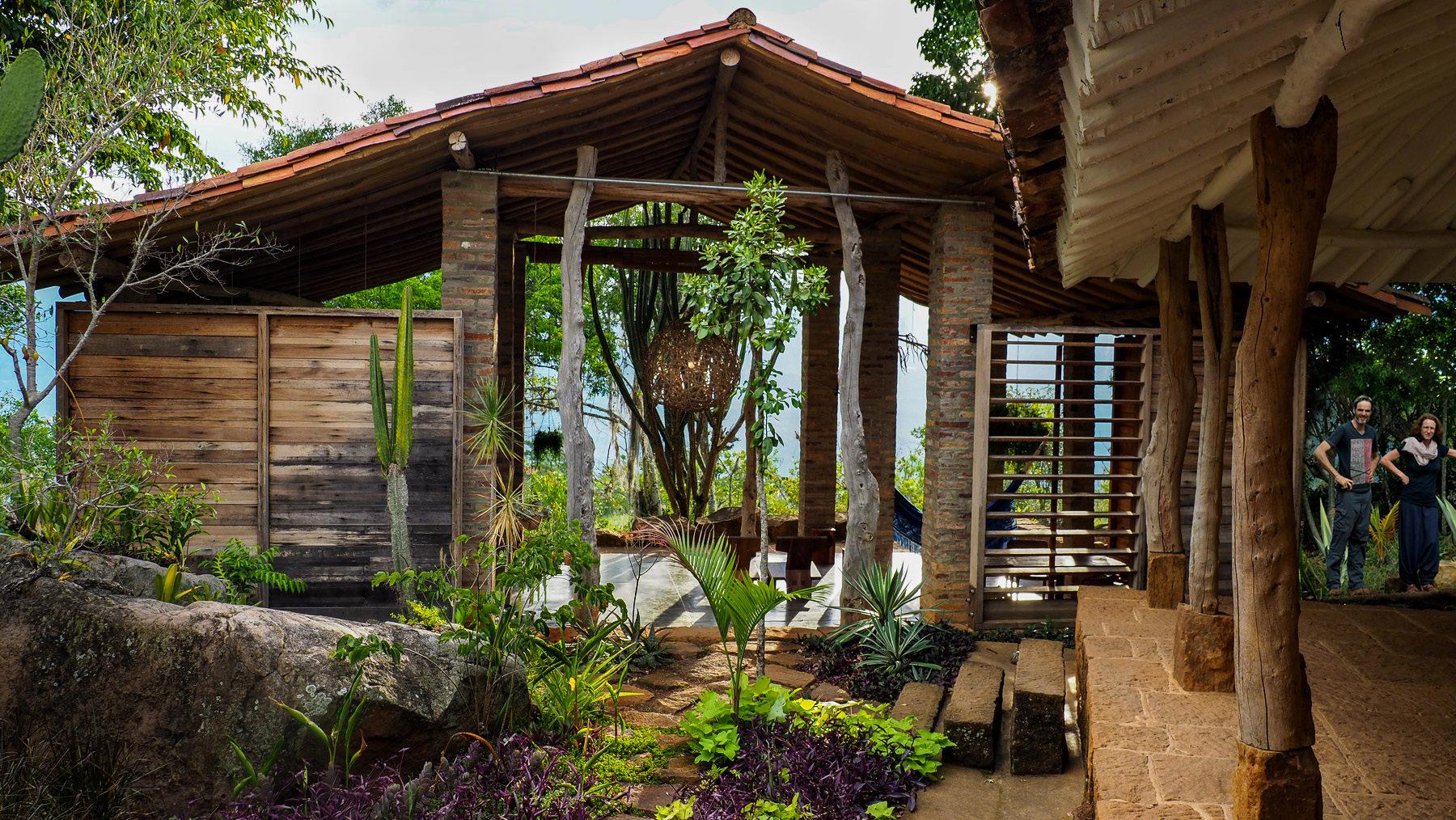 Das herrliche, völlig offene Haupthaus mit Wohnzimmer und Küche von Jupp und Julia auf Guaimaro