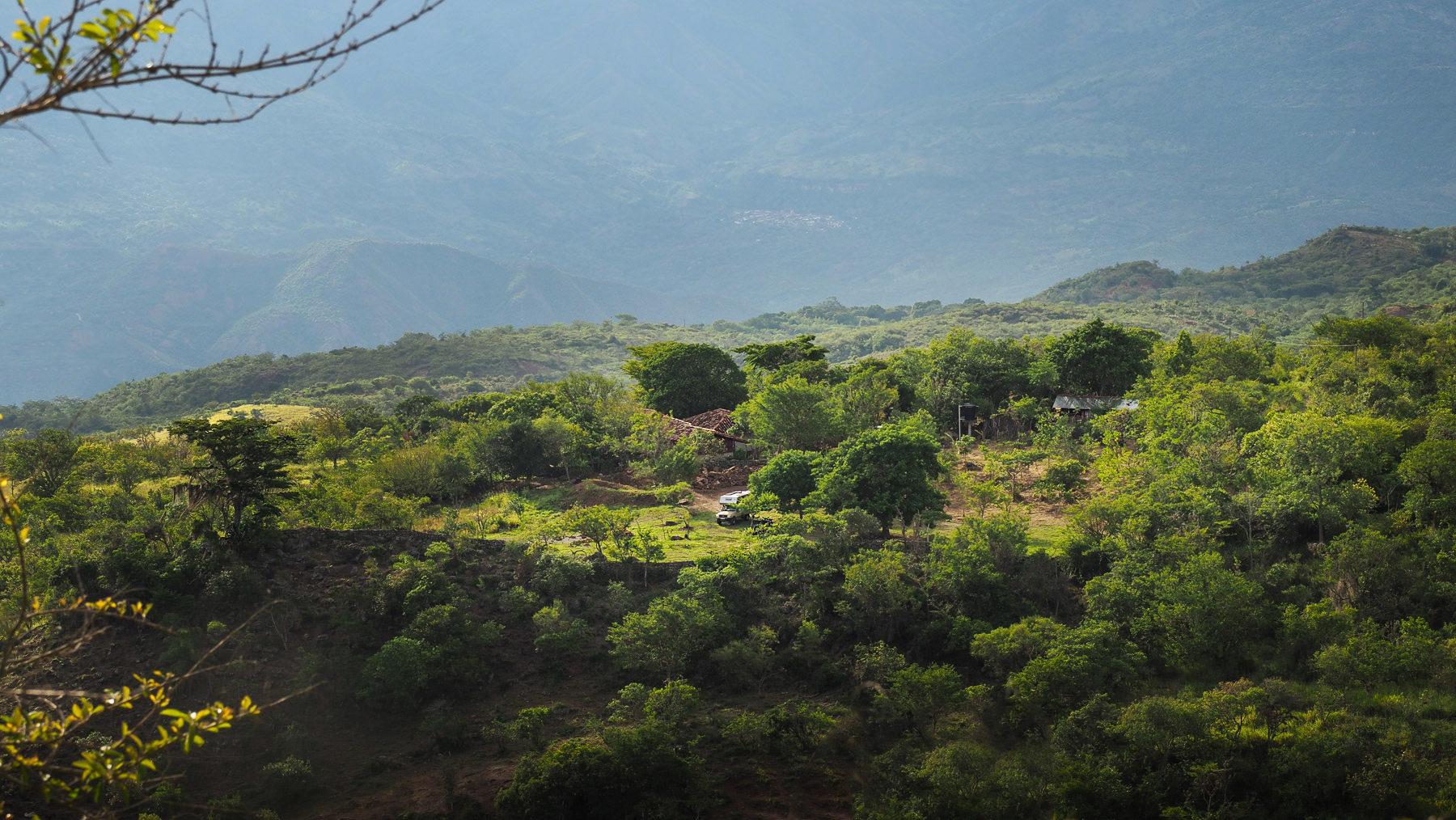 Unser herrlicher Platz auf der Finca Guaimaro bei Barichara