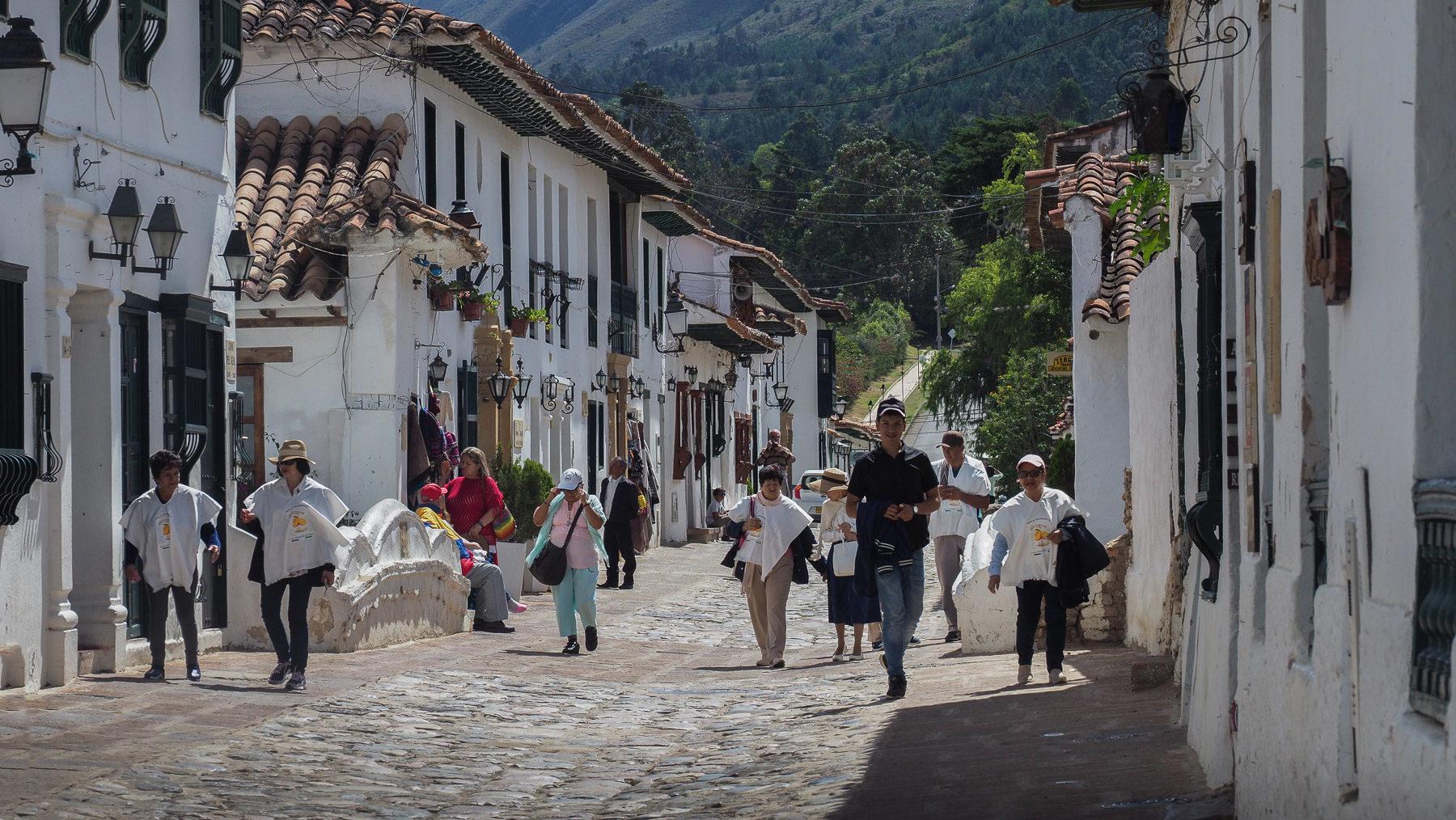 In den Straßen von Villa de Leyva