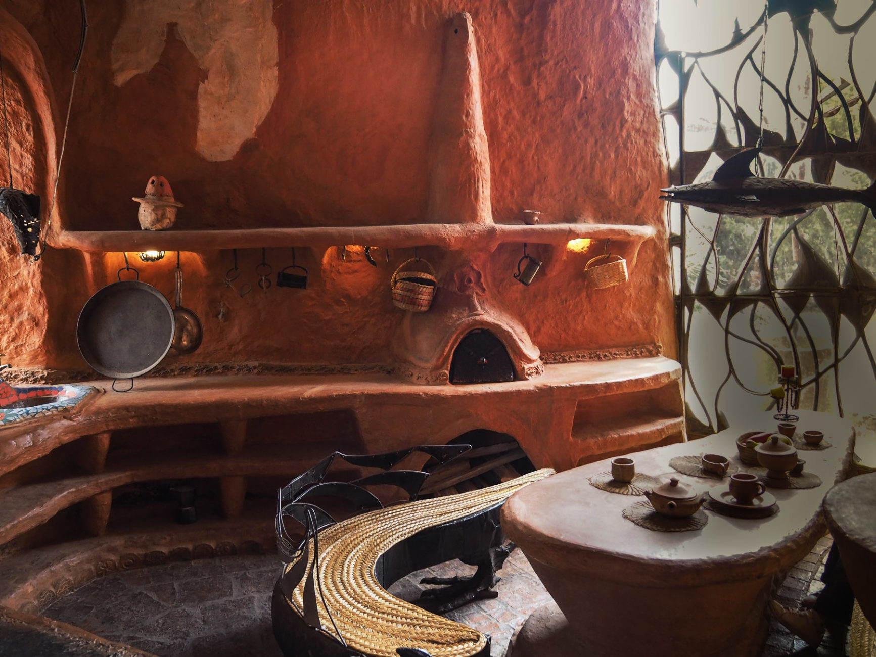 Küche und Essplatz im Terrakottahaus