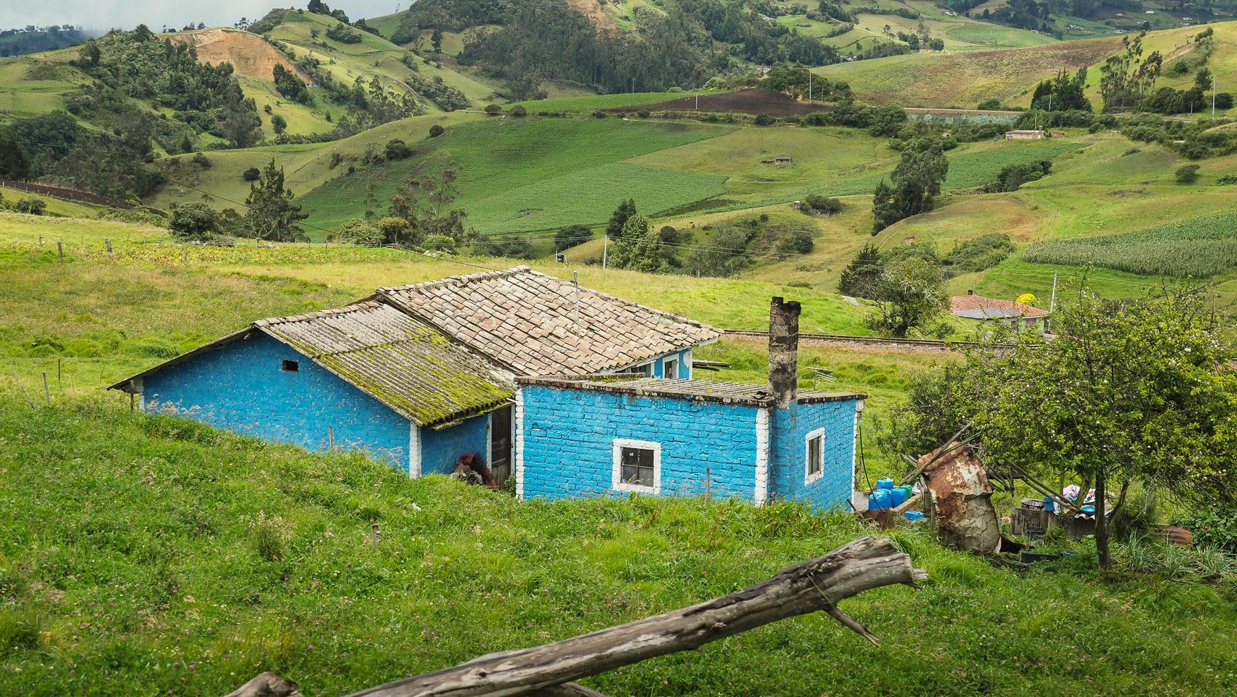 Voralpenlandschaft auf dem Weg nach Bogota