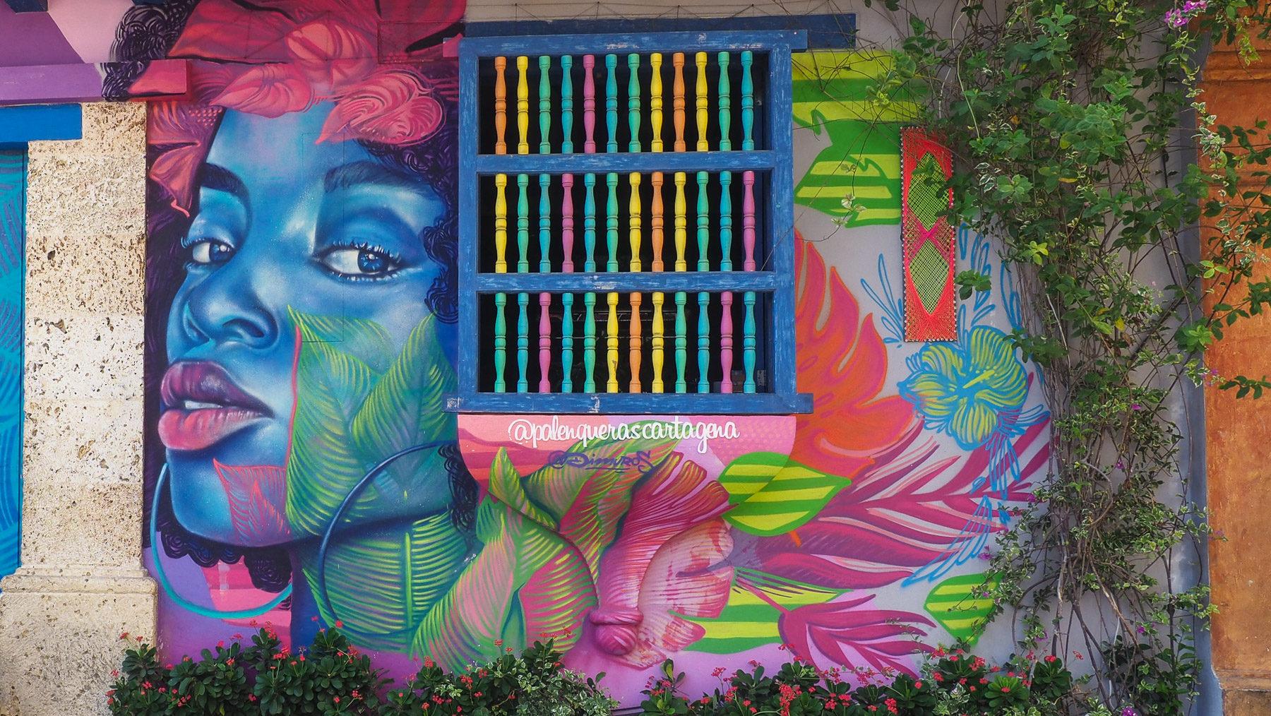 Schöne Graffitis in den teilweise heruntergekommen Gassen