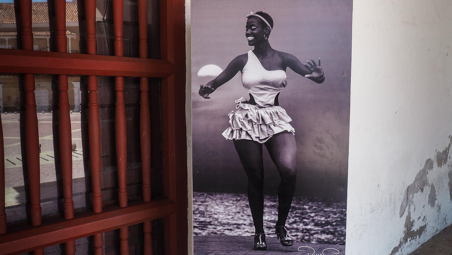 Kreolische Schönheit auf einem alten Foto