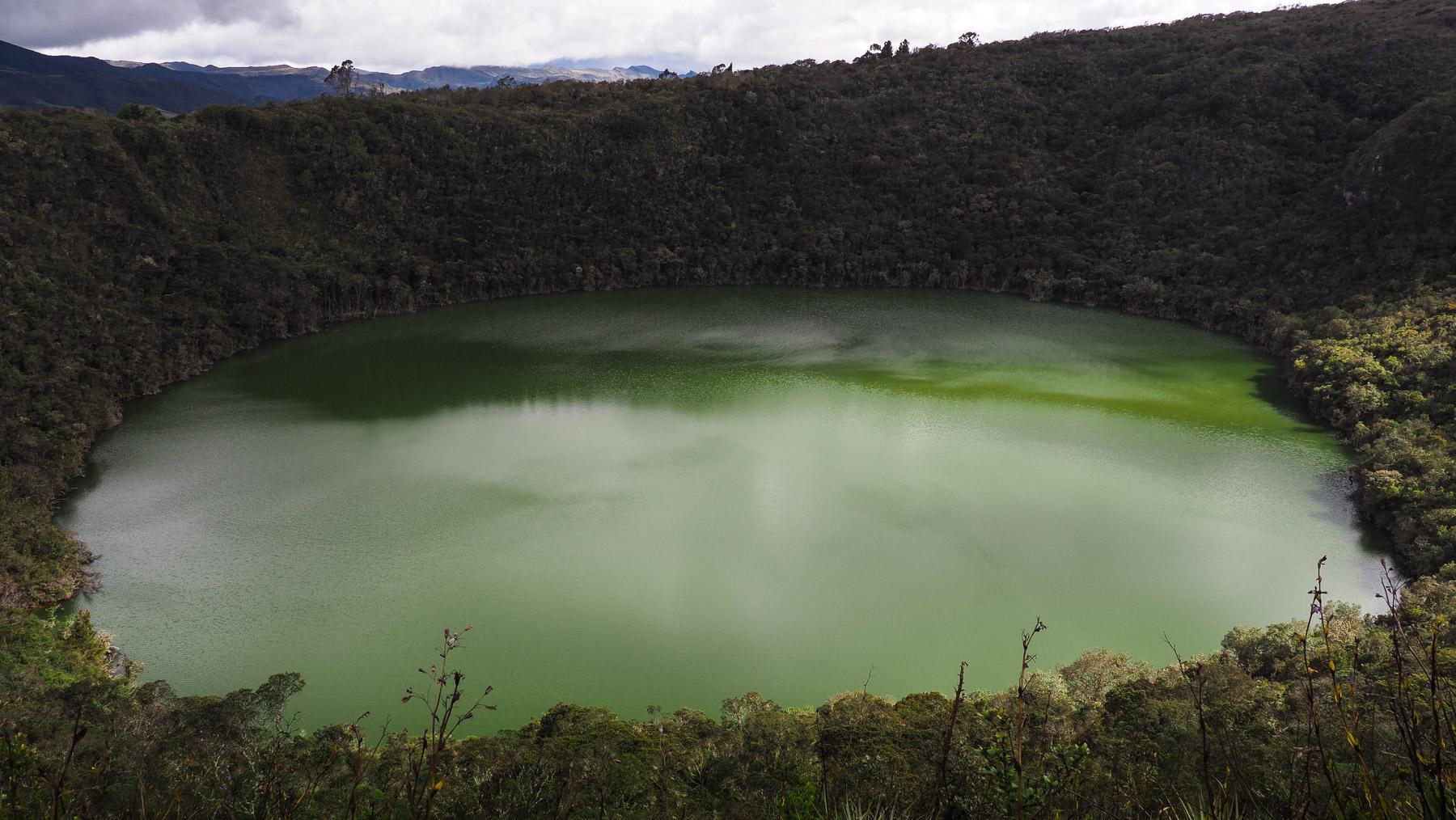 Berühmte Laguna de Guatavita