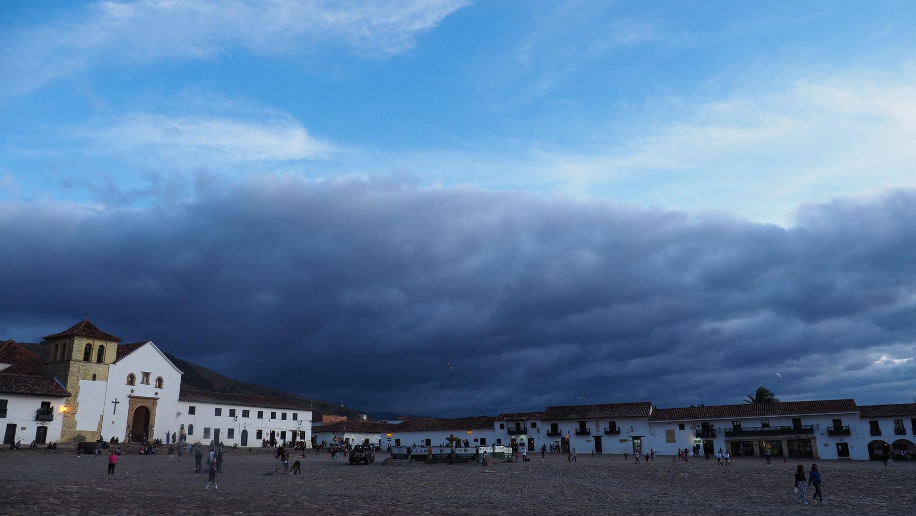 Villa de Leyva - sieht nach Regen aus
