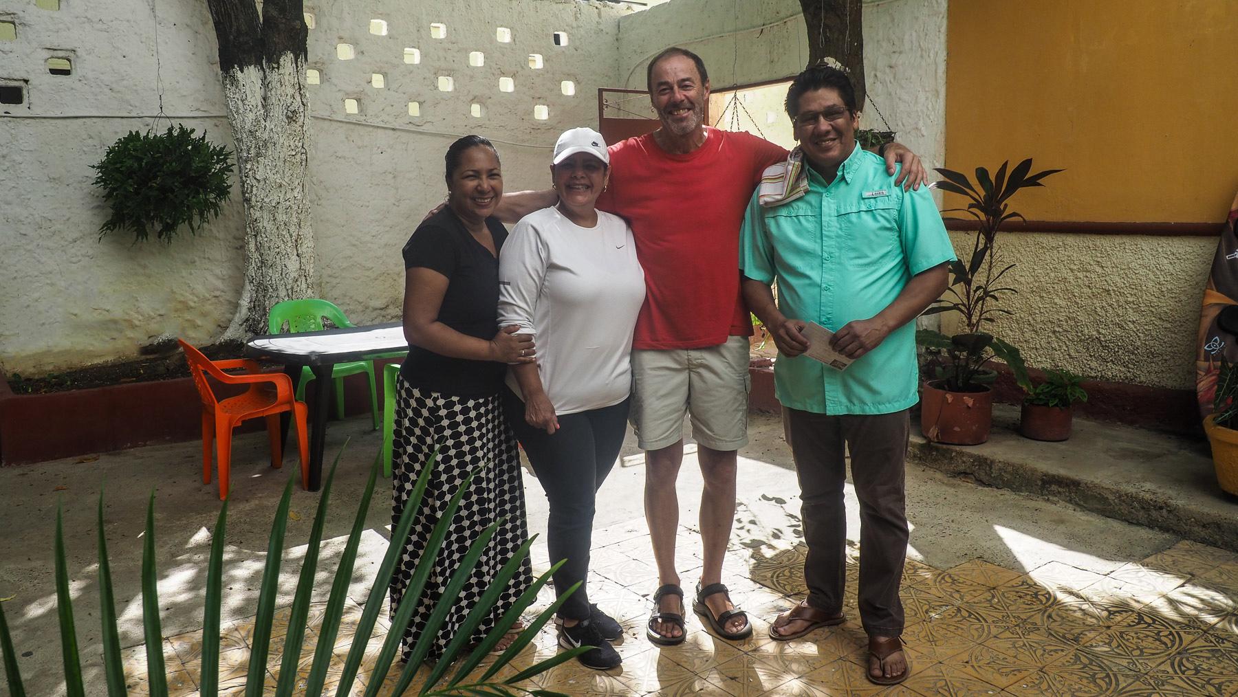 Schwerer Abschied von Jorge und Marsela, wir wurden so herzlich aufgenommen in der Familie