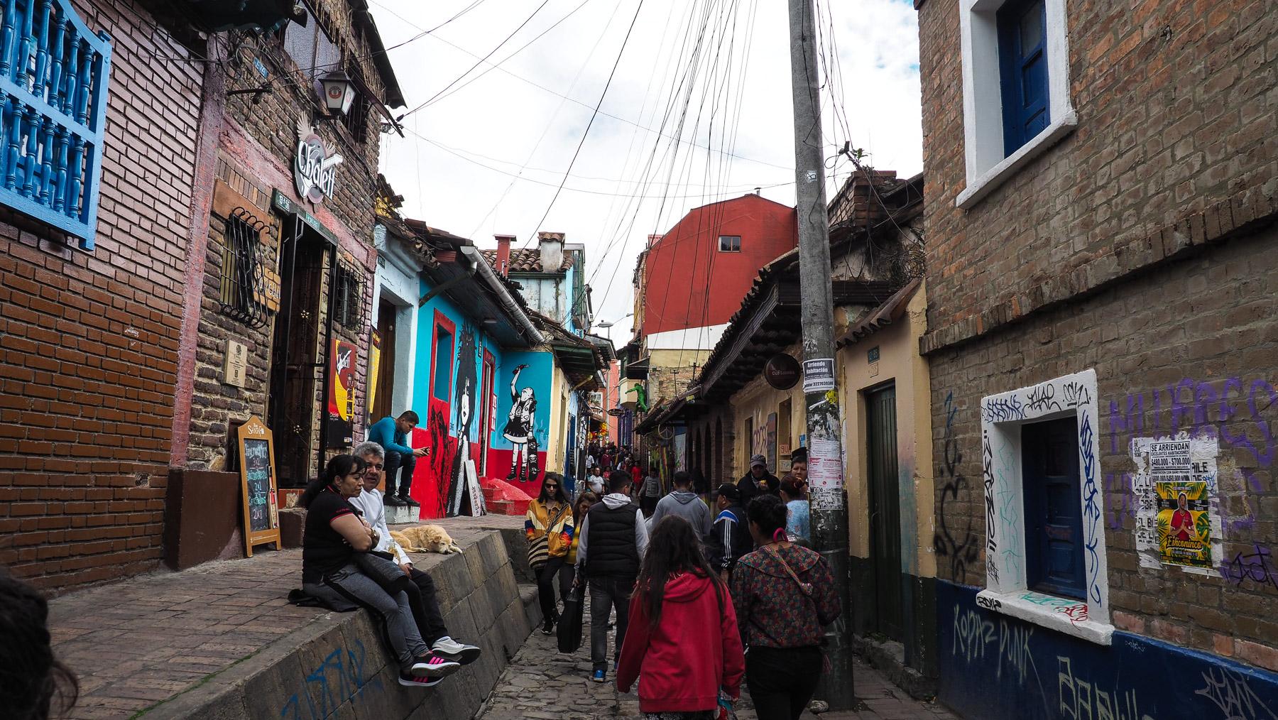 Älteste Gasse in Bogota