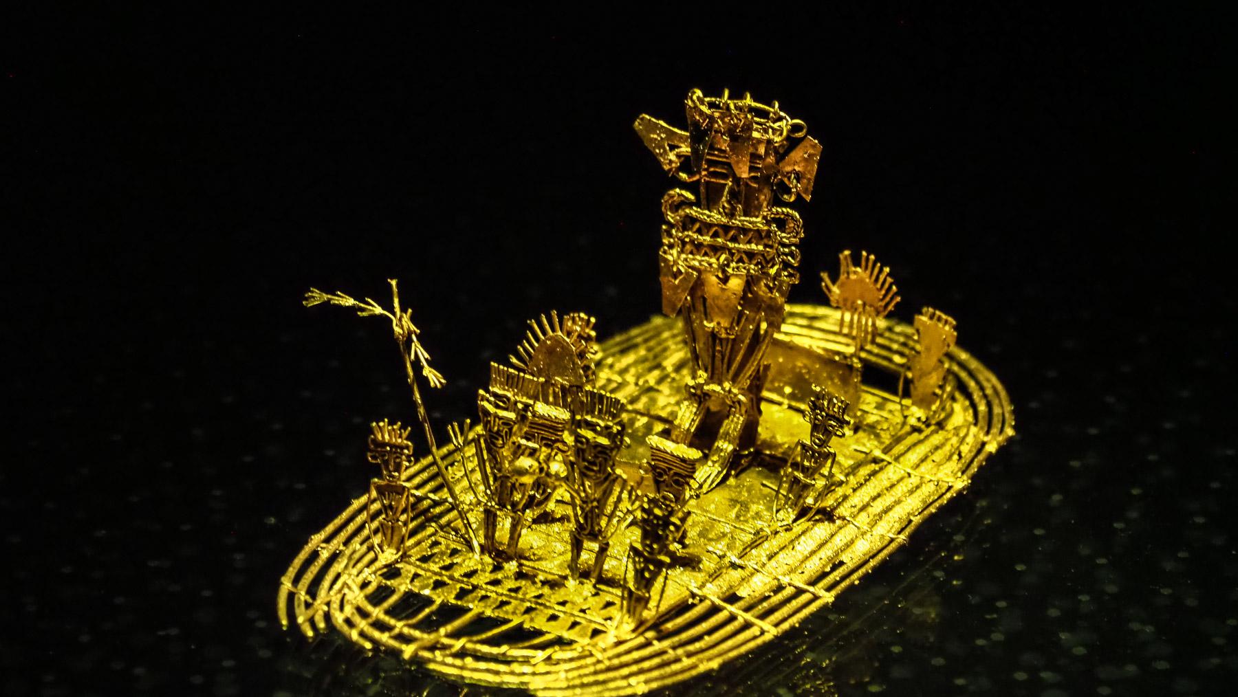 Hauptattraktion: das Goldfloß von Eldorado