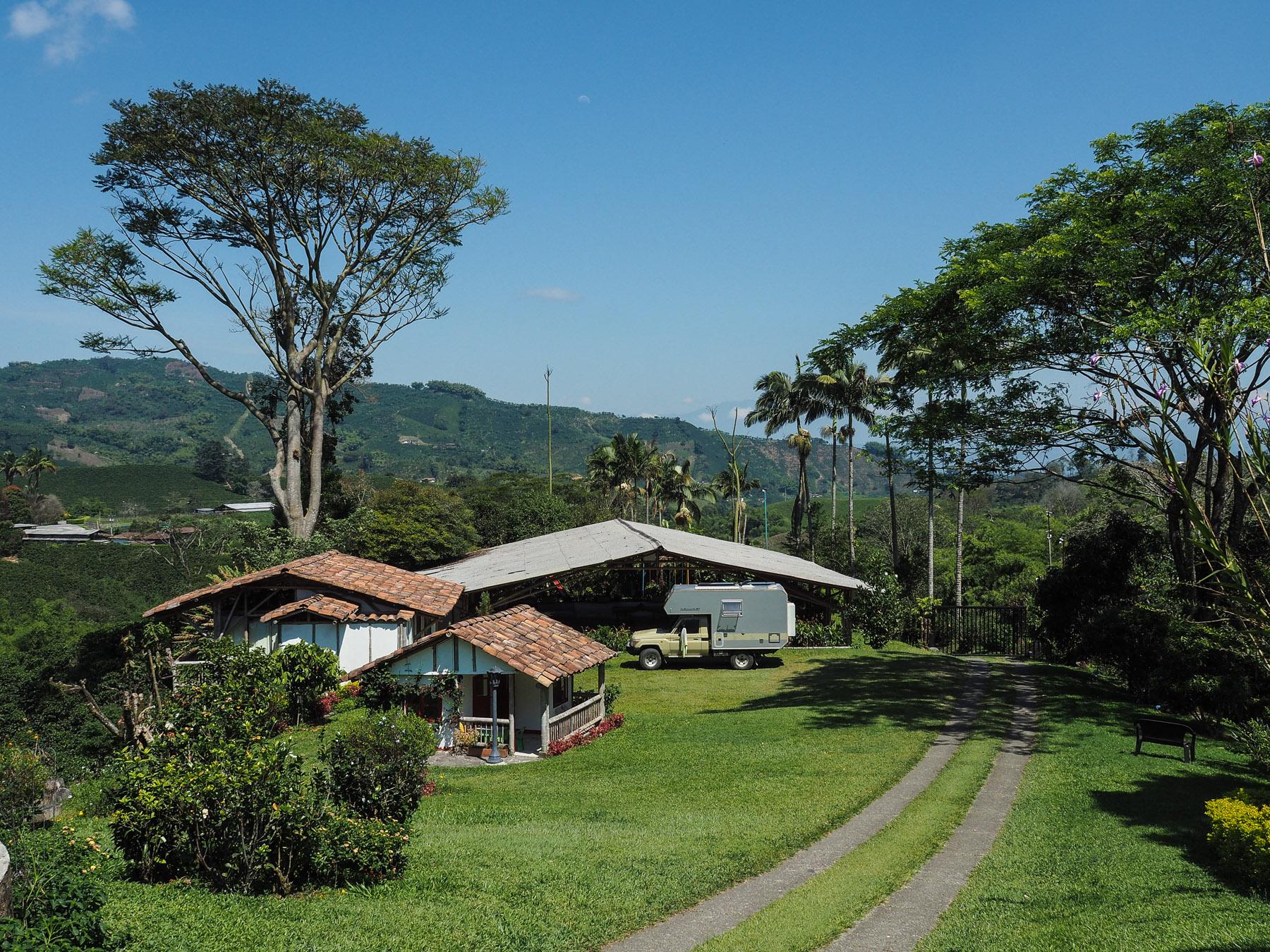 Stellplatz auf der Kaffeeplantage