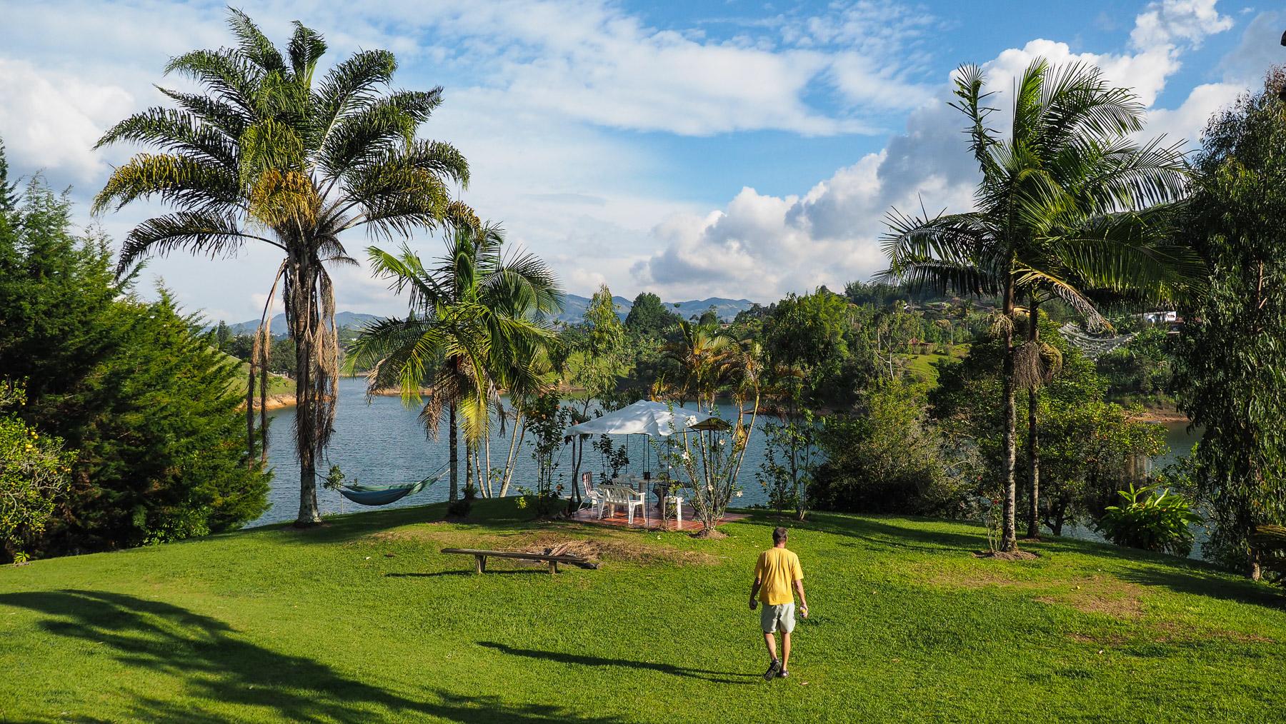 Schöner Ausblick vom Lake Hotel