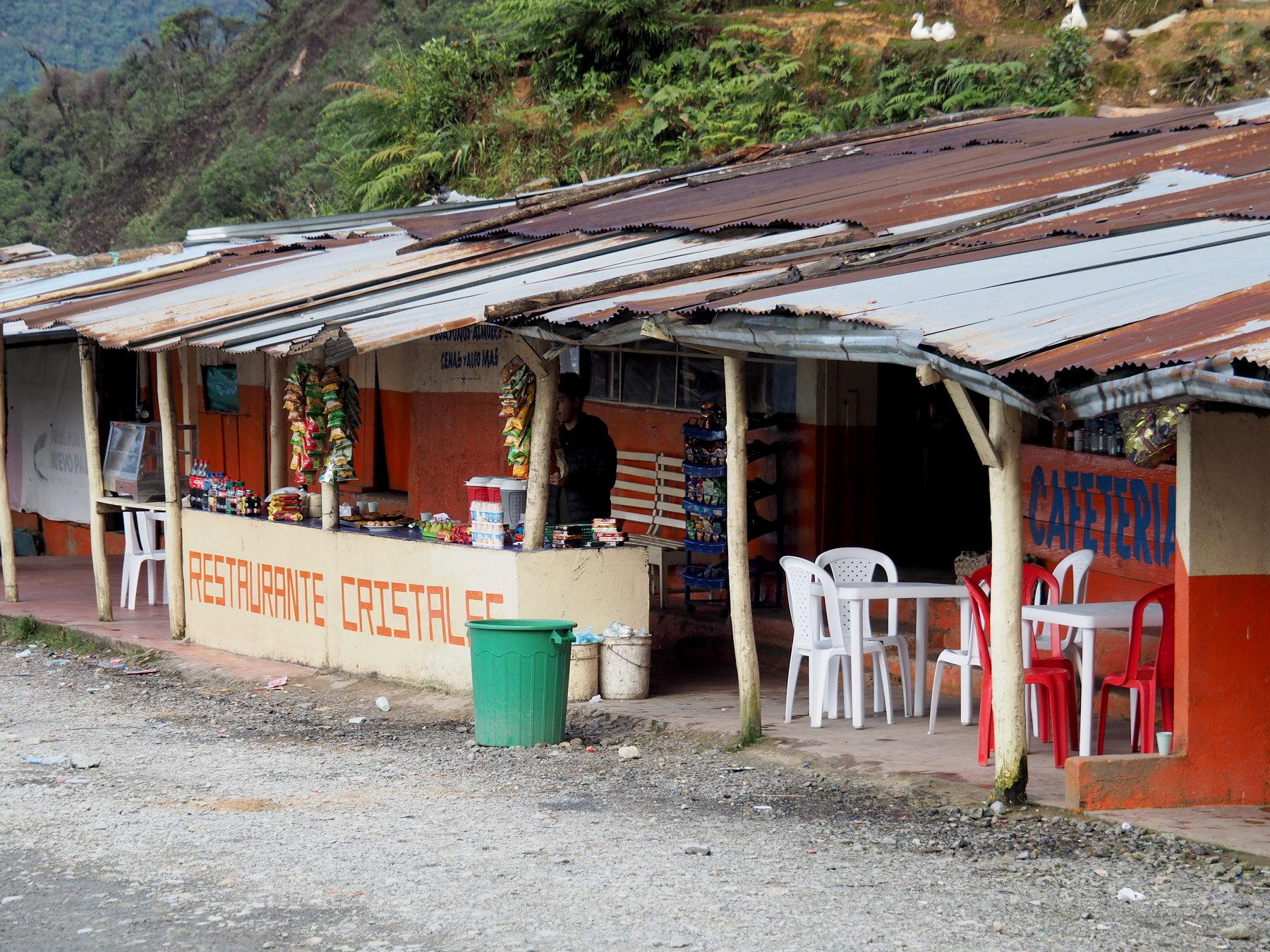 Übernachtungsplatz: kleines Restaurant am Rande des Universums