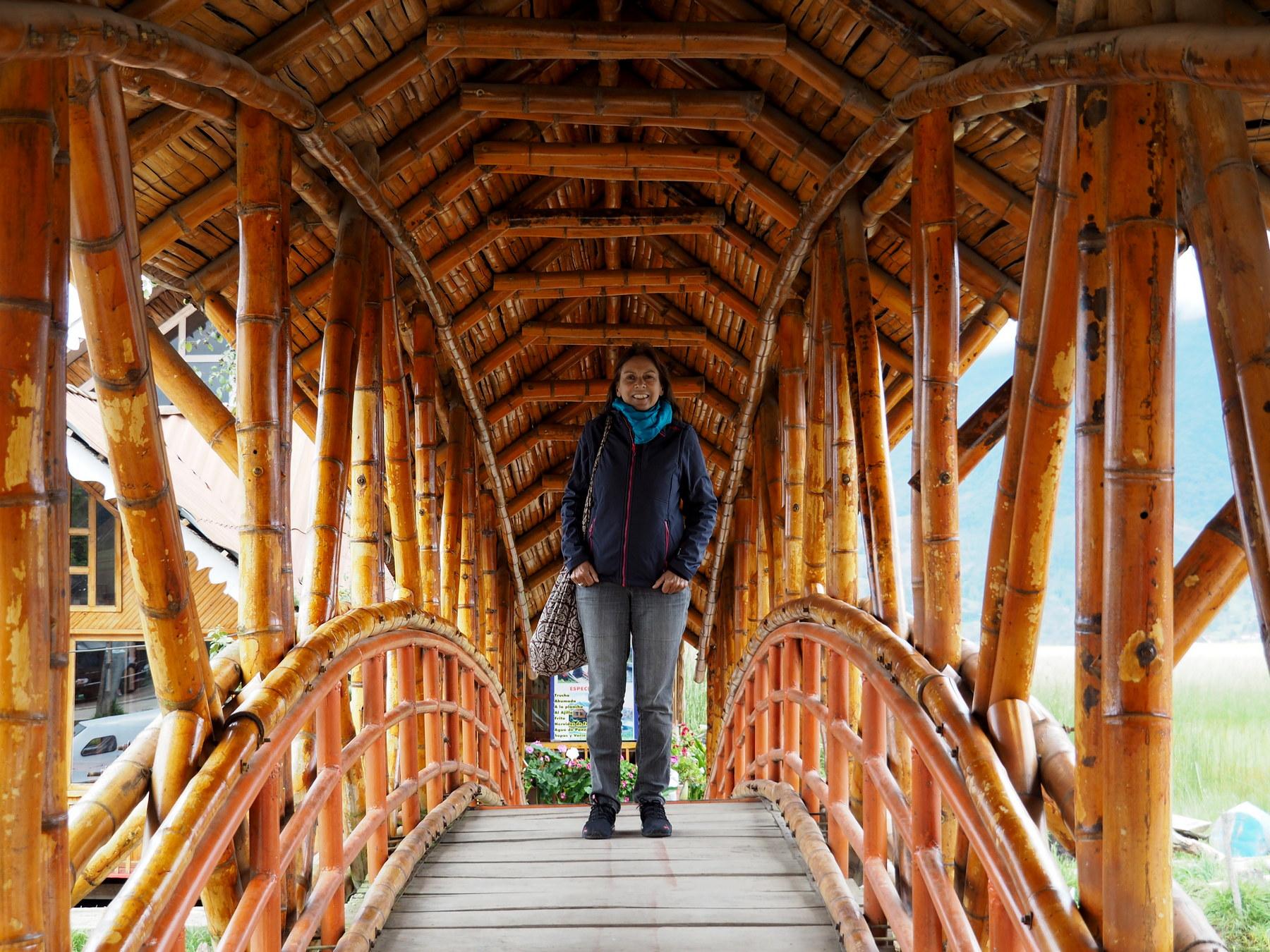 Hübsche Brücke aus Bambus