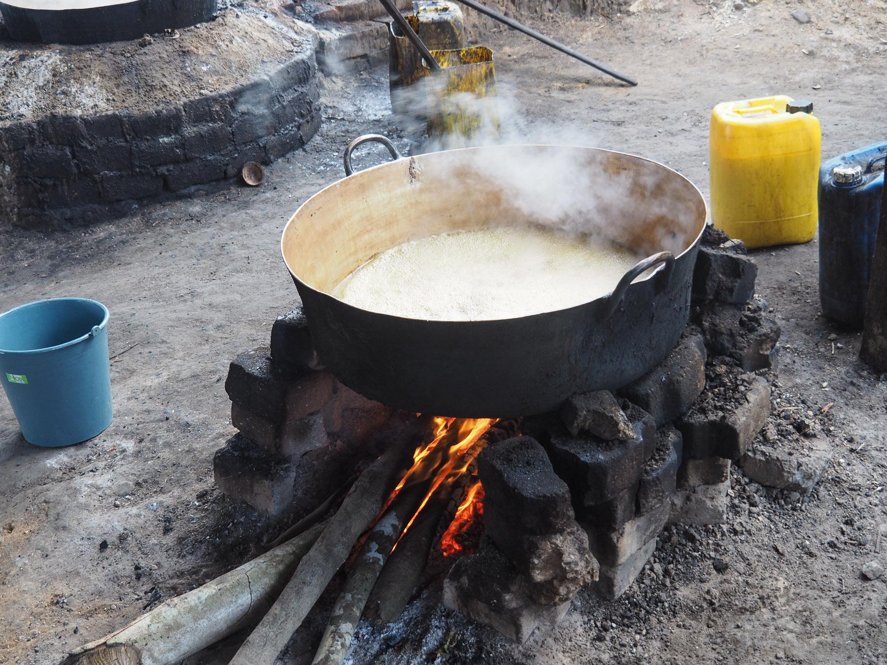 Einkochen des Sirups