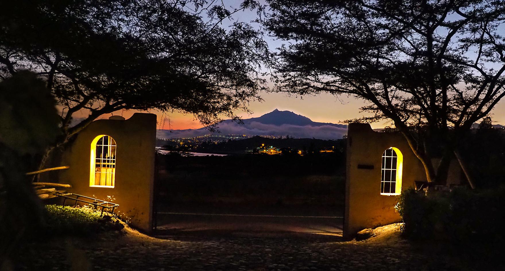 Wir bleiben 2 Wochen auf der Finca Sommerwind mit Blick auf Ibarra und die Vulkane