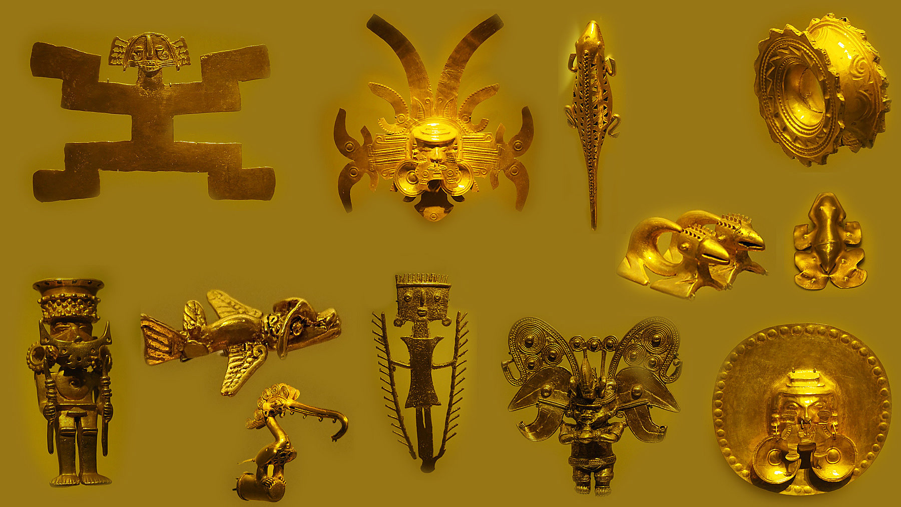 Wunderschöne Goldobjekte der präkolumbischen Zeit