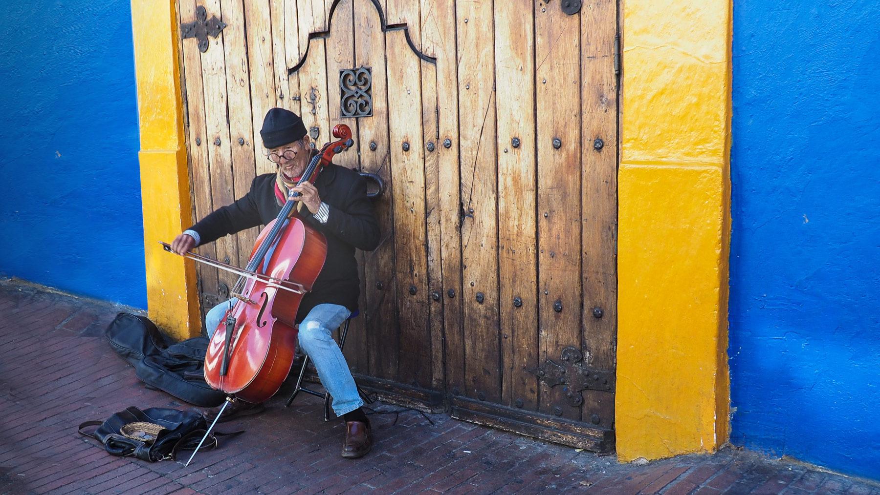 Straßenmusiker in Bogota