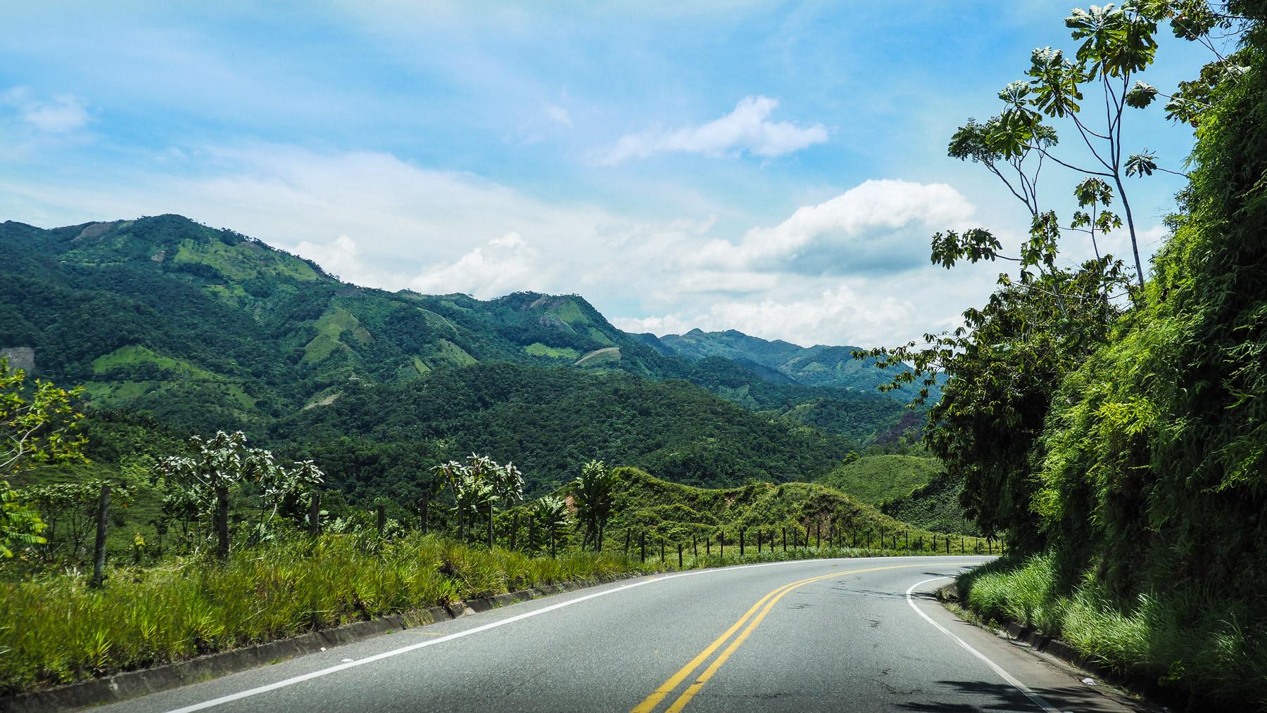 Typische kolumbianische Landschaft