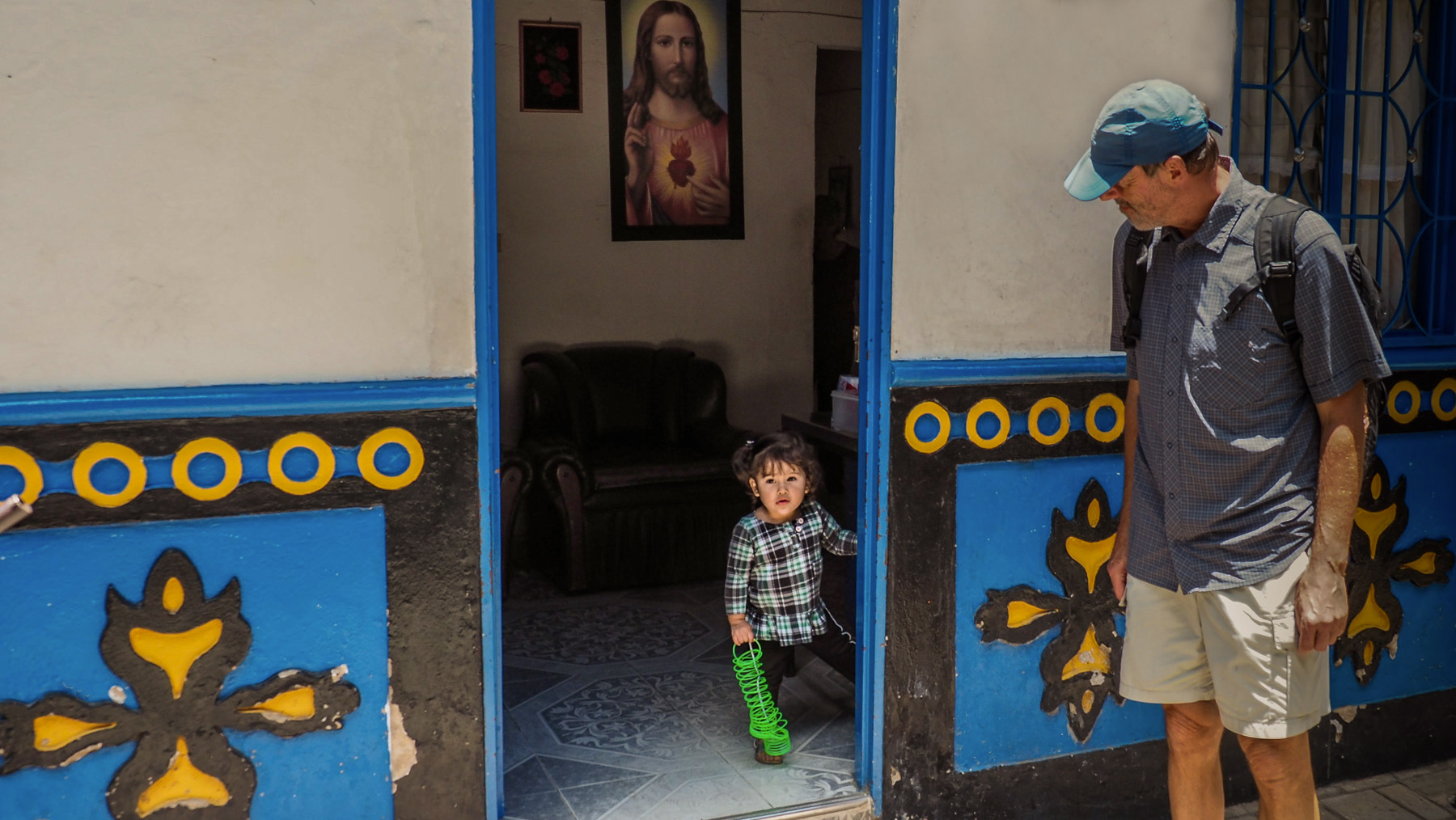 Kleine Bewohnerin von Guatape