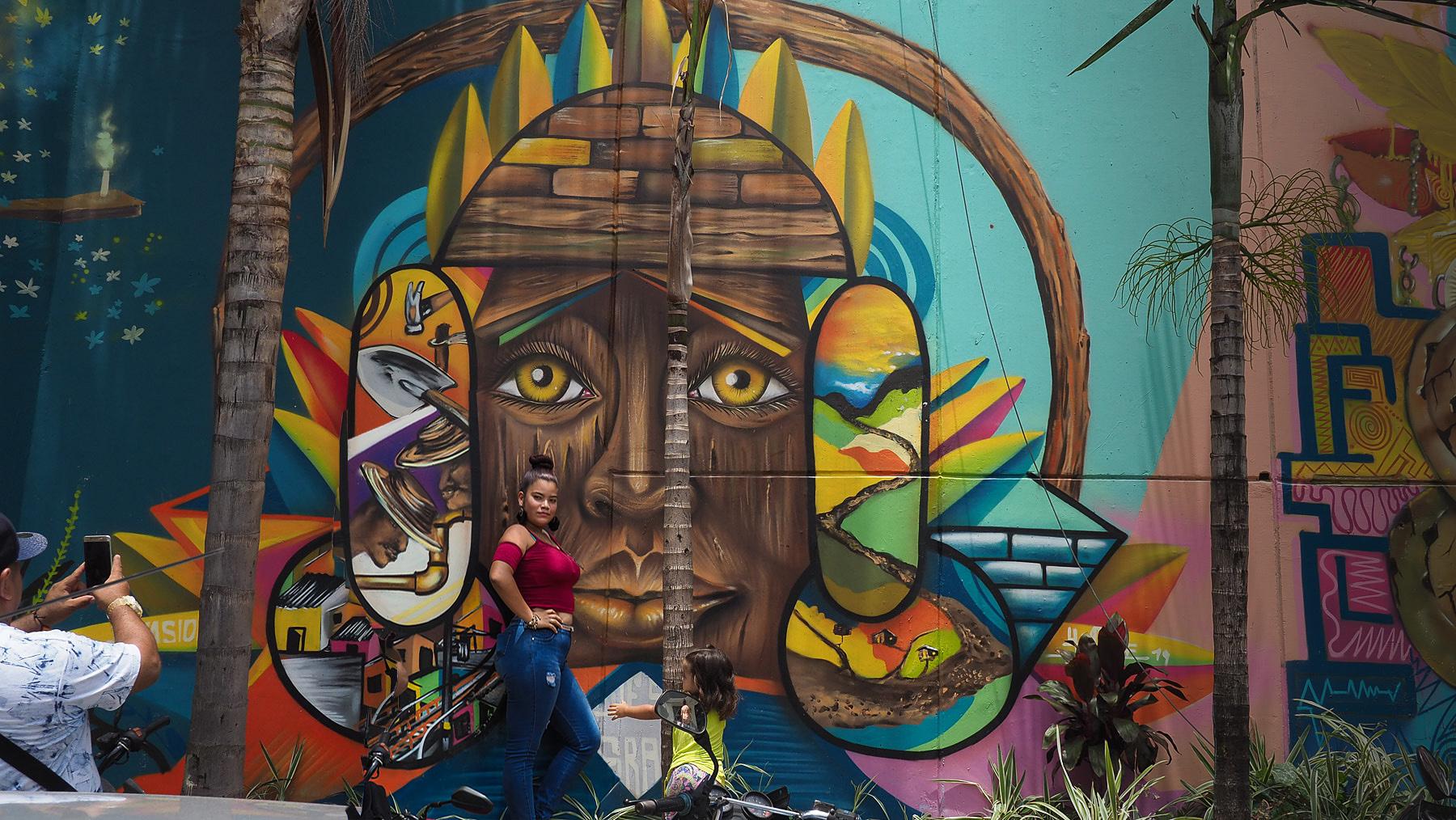 Die Bewohner sind stolz auf ihre Graffitis