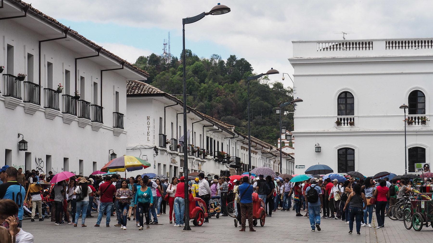 Lehrerstreik in Popayan