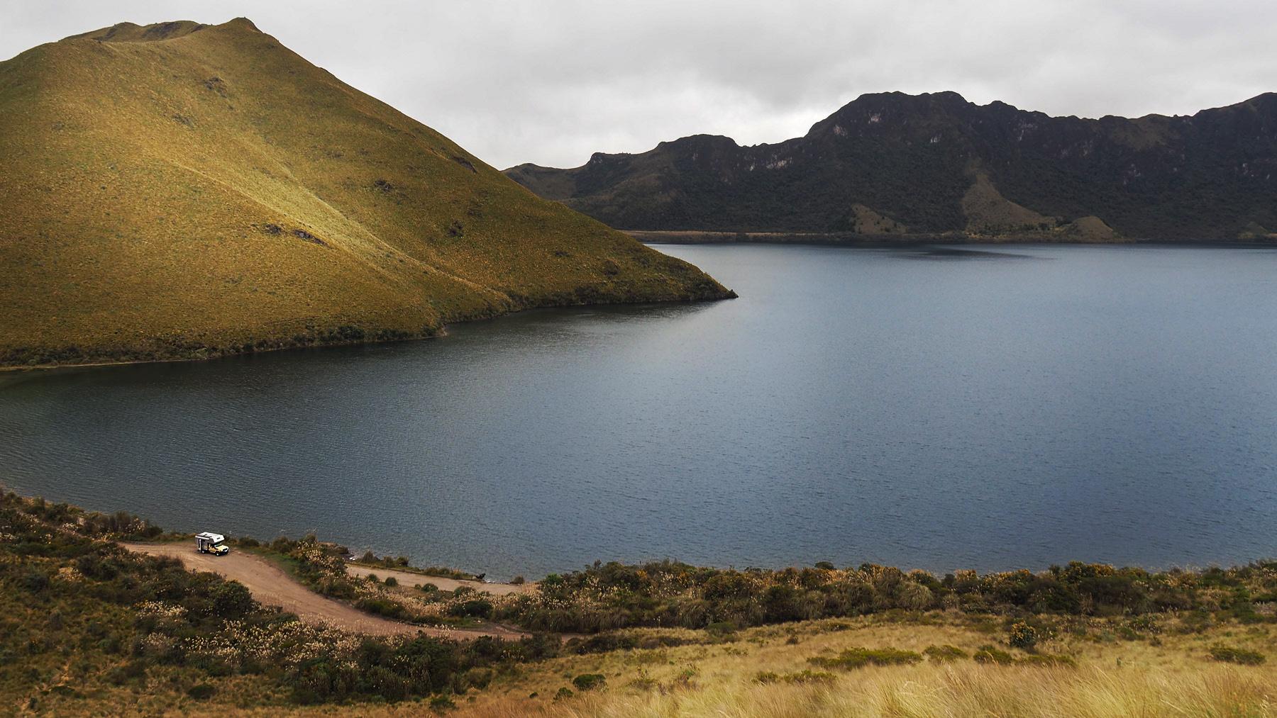 Tolle Fahrt um den Kratersee Laguna Mojanda