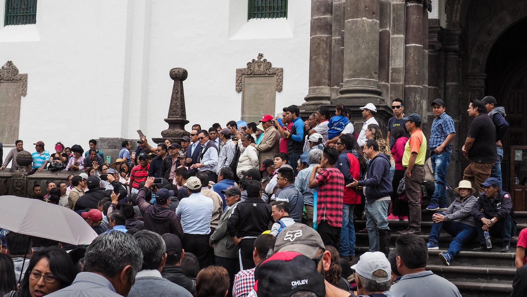 Demonstration in Quito. Hier braut sich was zusammen