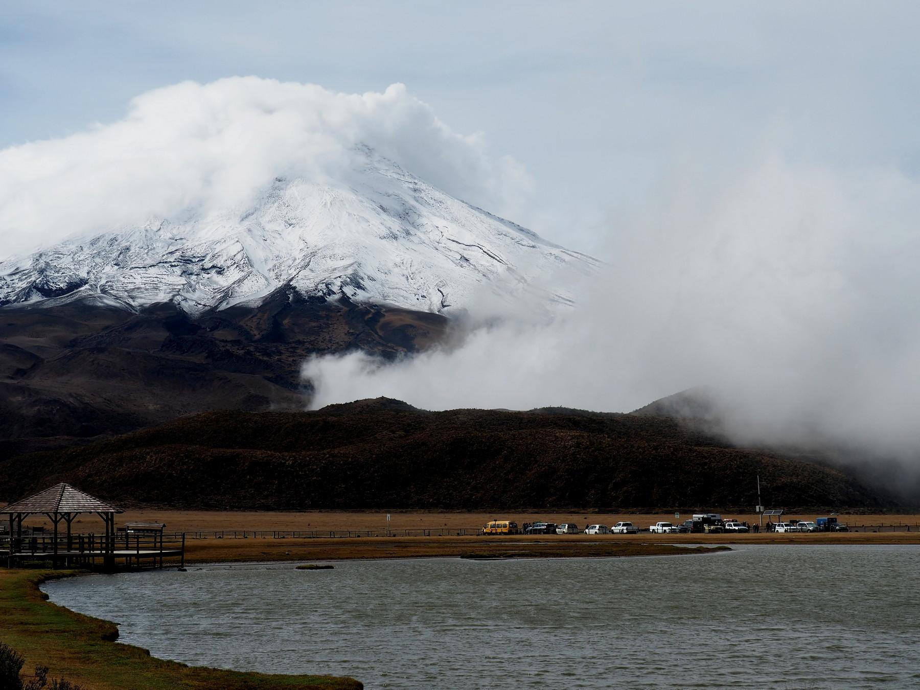Letzter Blick auf den Vulkan