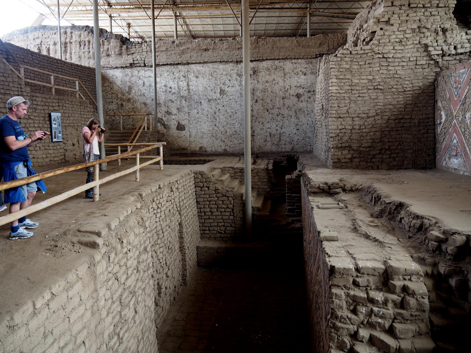 In mehreren Ebenen wurden Bauwerke freigelegt