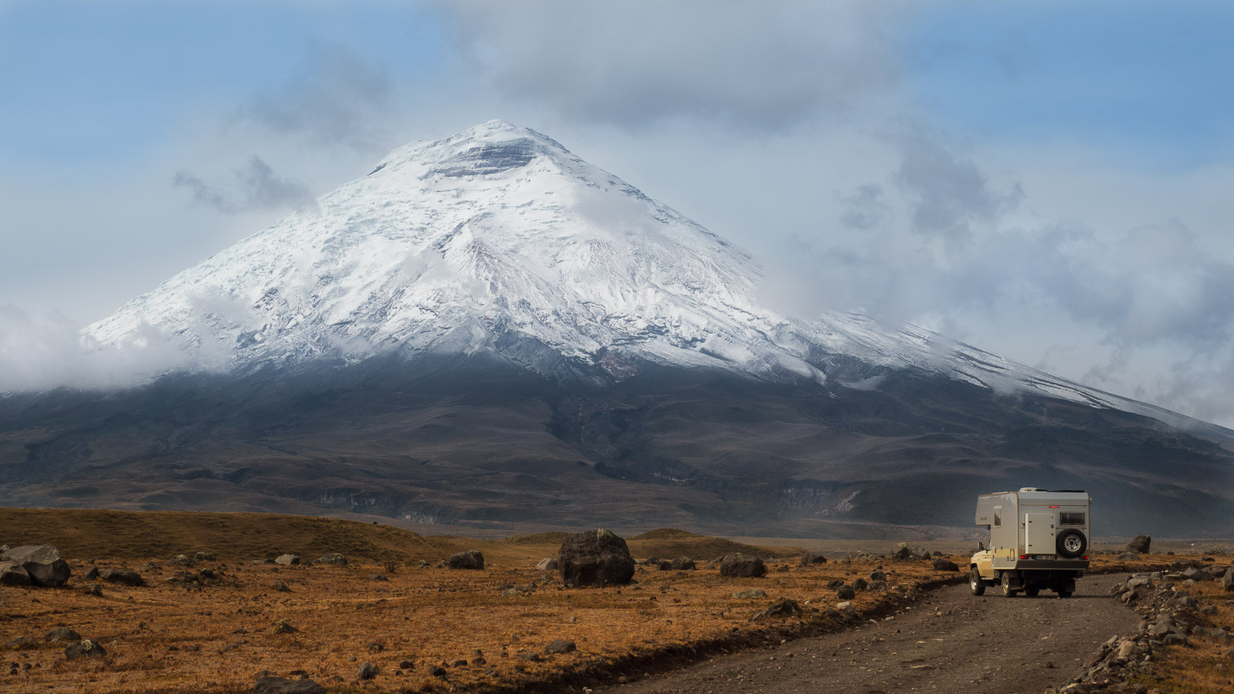 Cotopaxi, ein Vulkan wie aus dem Bilderbuch