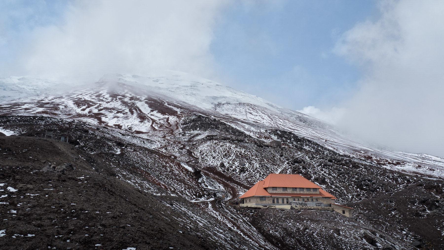 Das Refugio am Cotopaxi, weiter hoch geht's für uns nicht