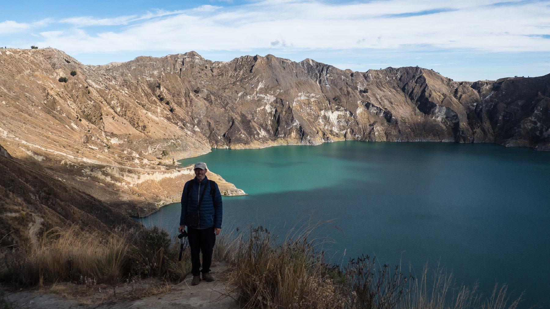 Wanderung an der Laguna Quilotoa