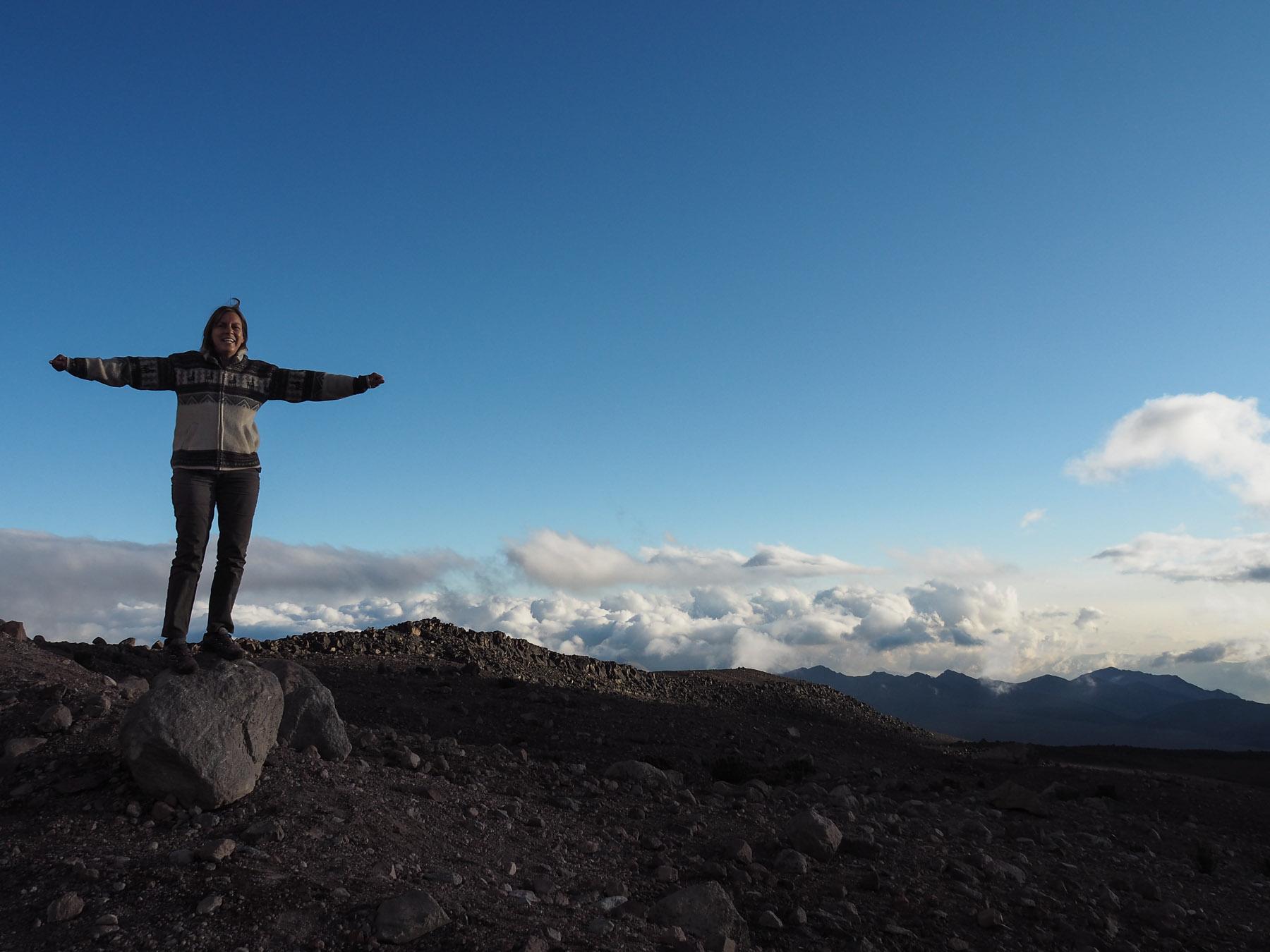 Leider nicht auf dem Gipfel, aber zumindest über den Wolken