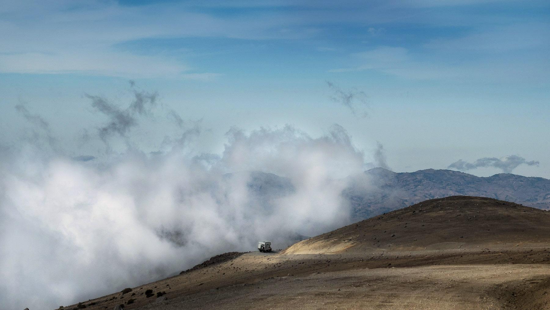 Fahrt auf der Straße der Vulkane in Ecuador