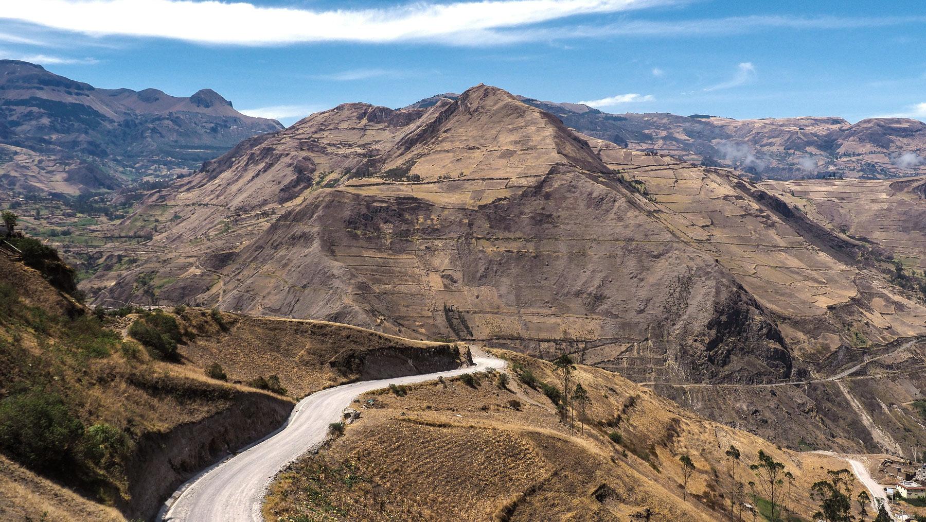Durch's zentrale Hochland in Equador nach Alausi