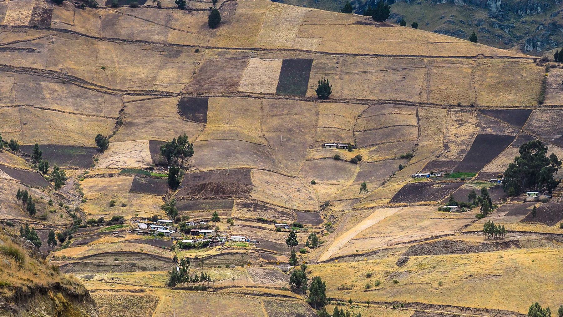 Mühselige Landwirtschaft noch auf den steilsten Hängen