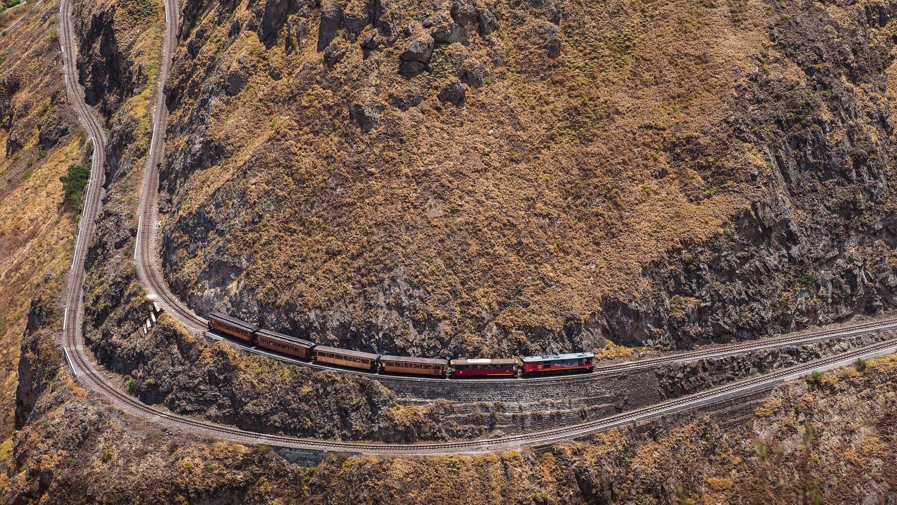 Ab hier fährt der Zug dann rückwärts weiter