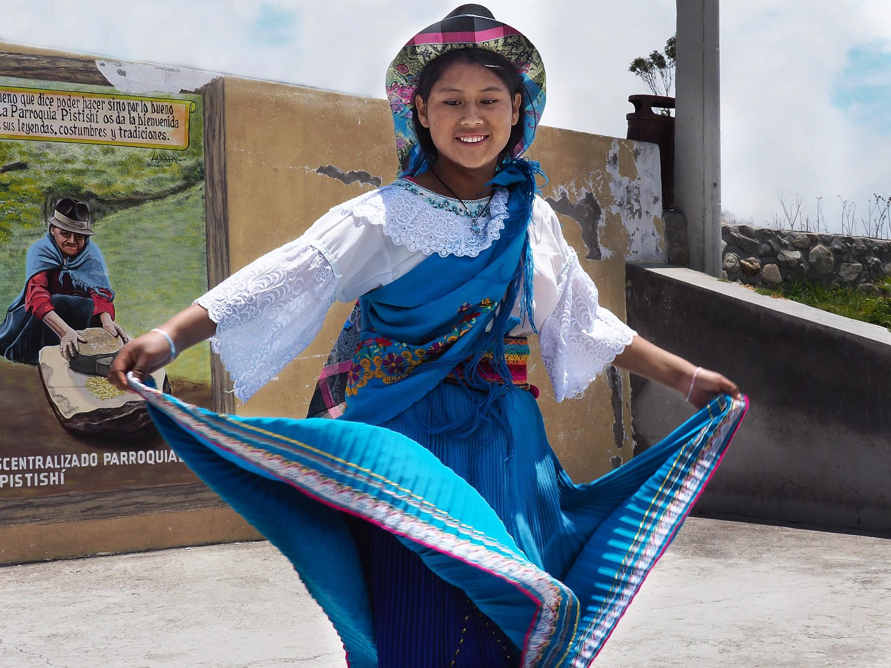 Kleine Tanzvorführung für Touristen